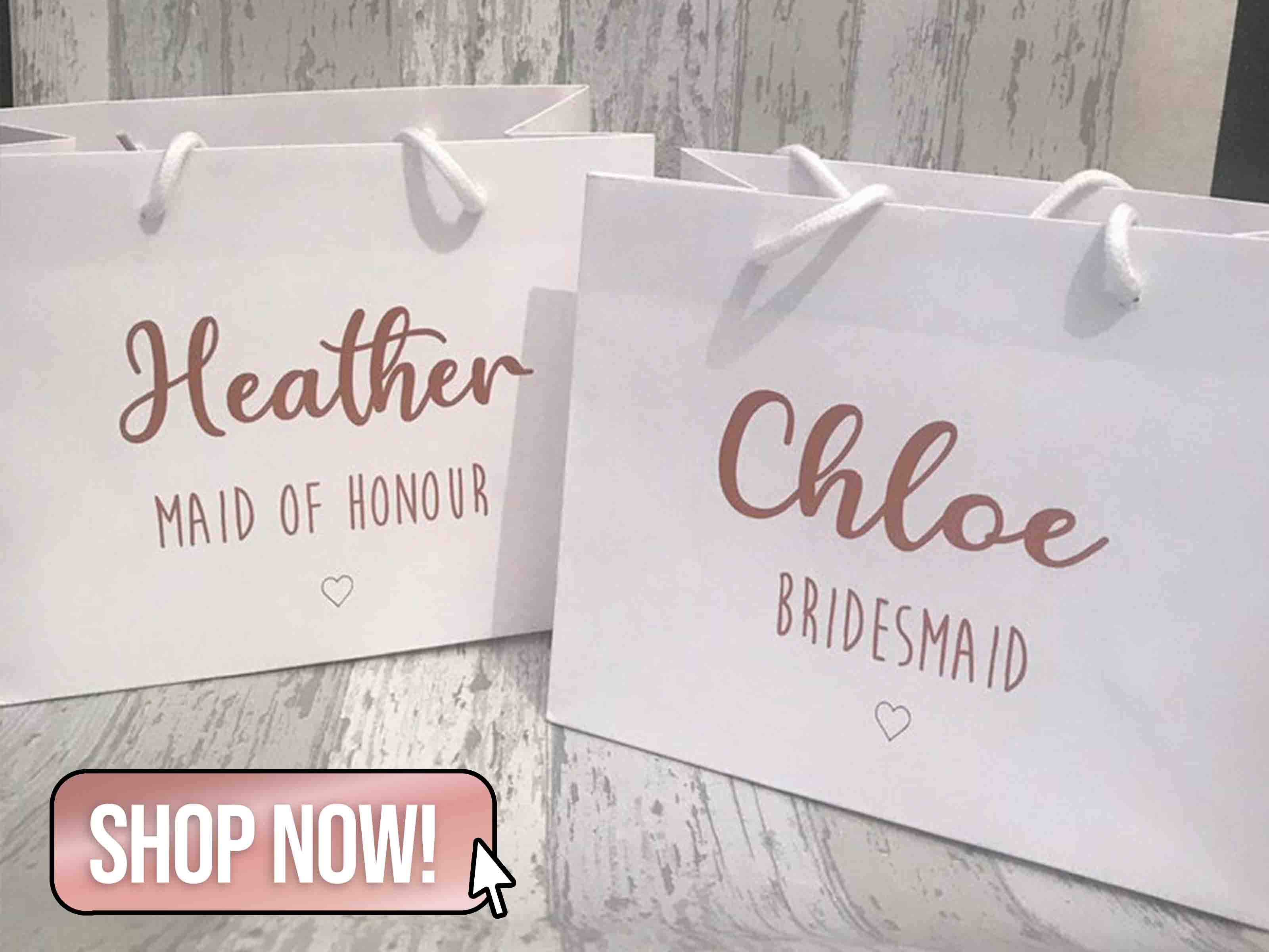 Personalised Bridal Party Bag - TheVinylBride