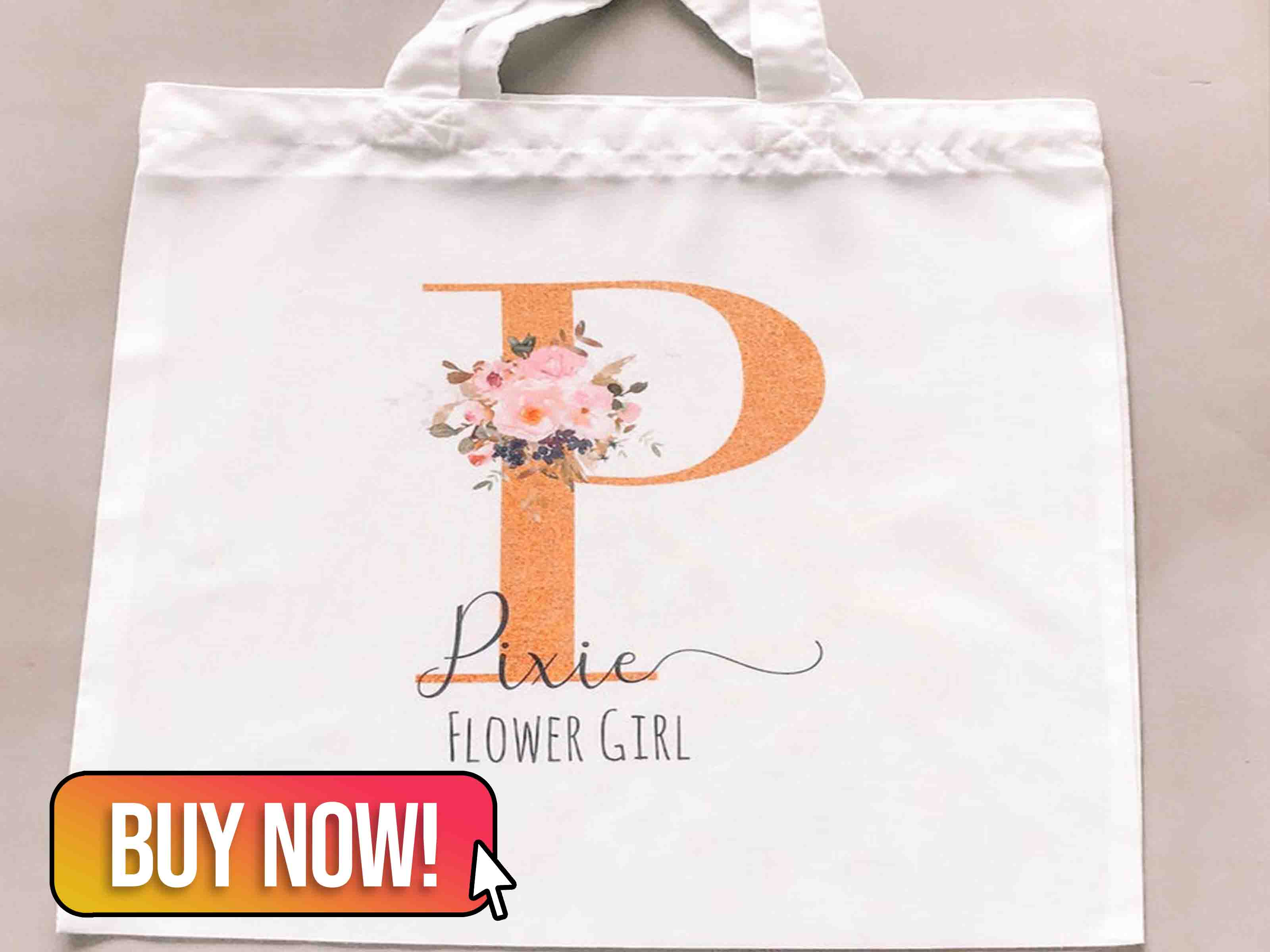Personalised Bridal Party Tote Bag - PaperScissorsDesign