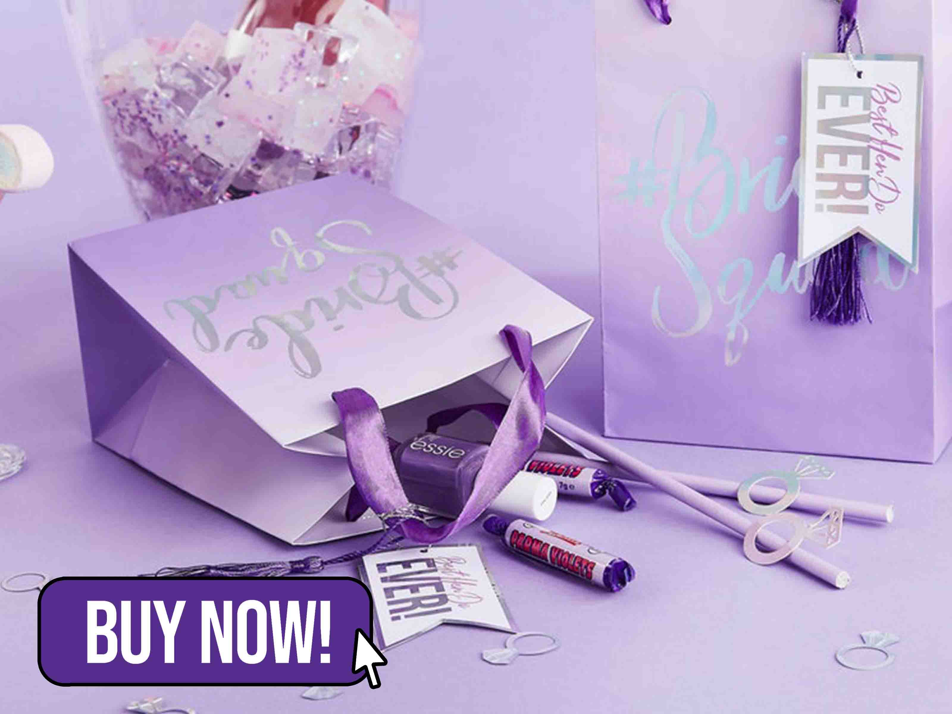 Purple Bride Squad Hen Party Bags - Hootyballoo