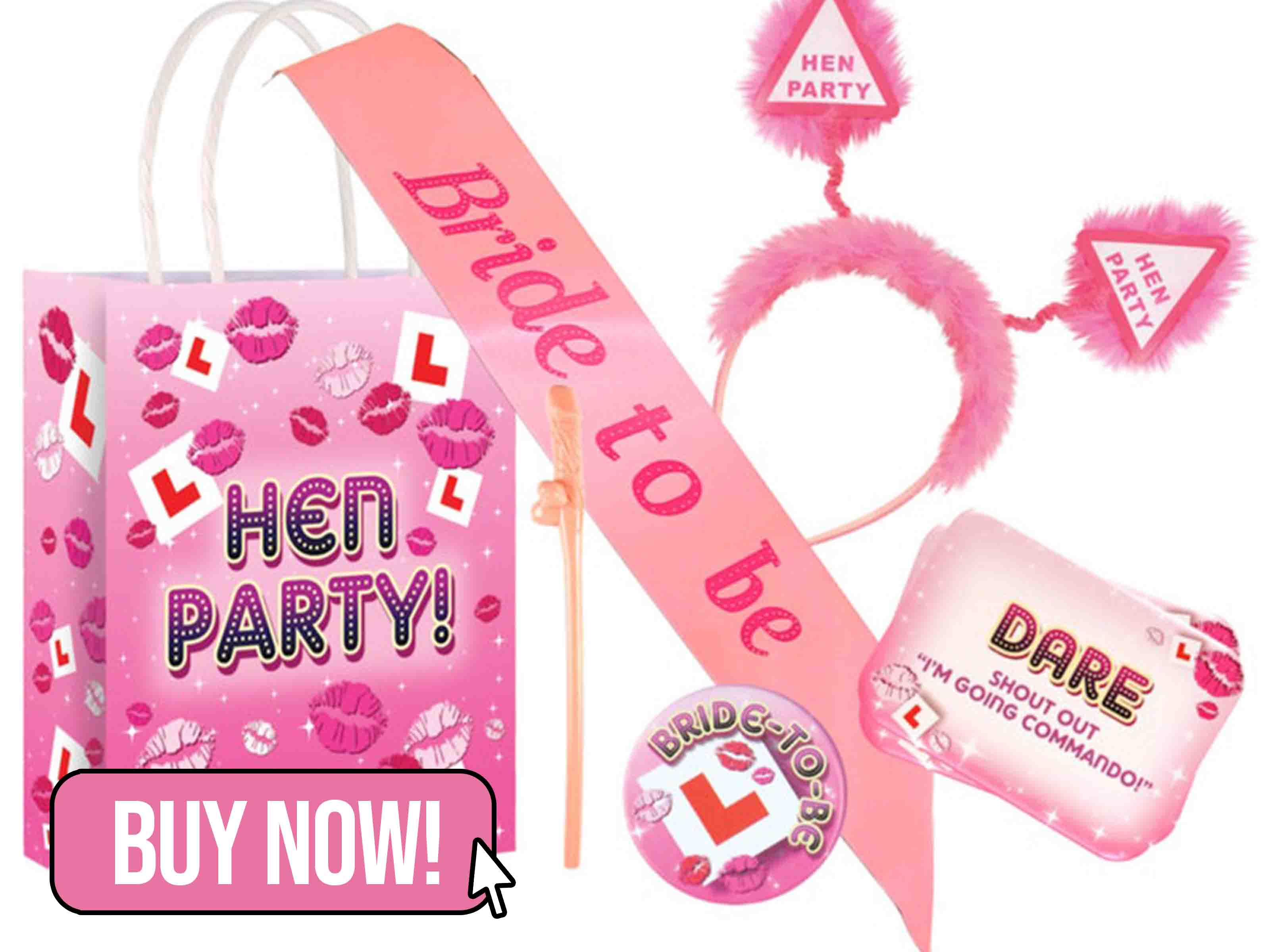 Hen Party Bag filled with 5 Items - JJSOccasions