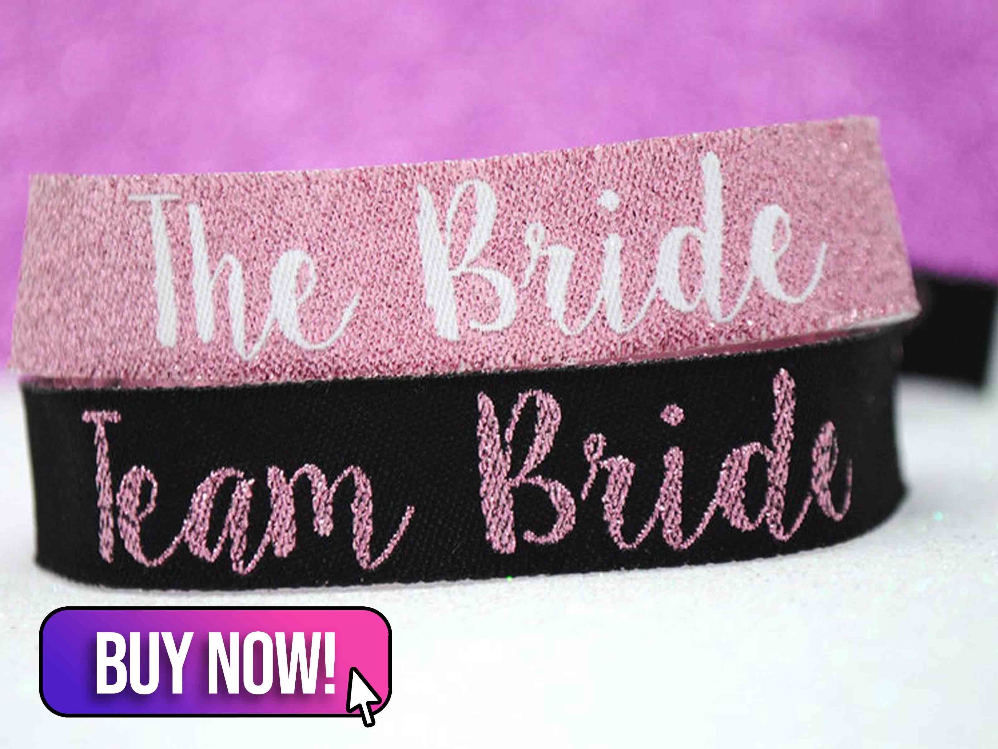 Team Bride Rose Gold Hen Party Wristbands - WedfestWeddings
