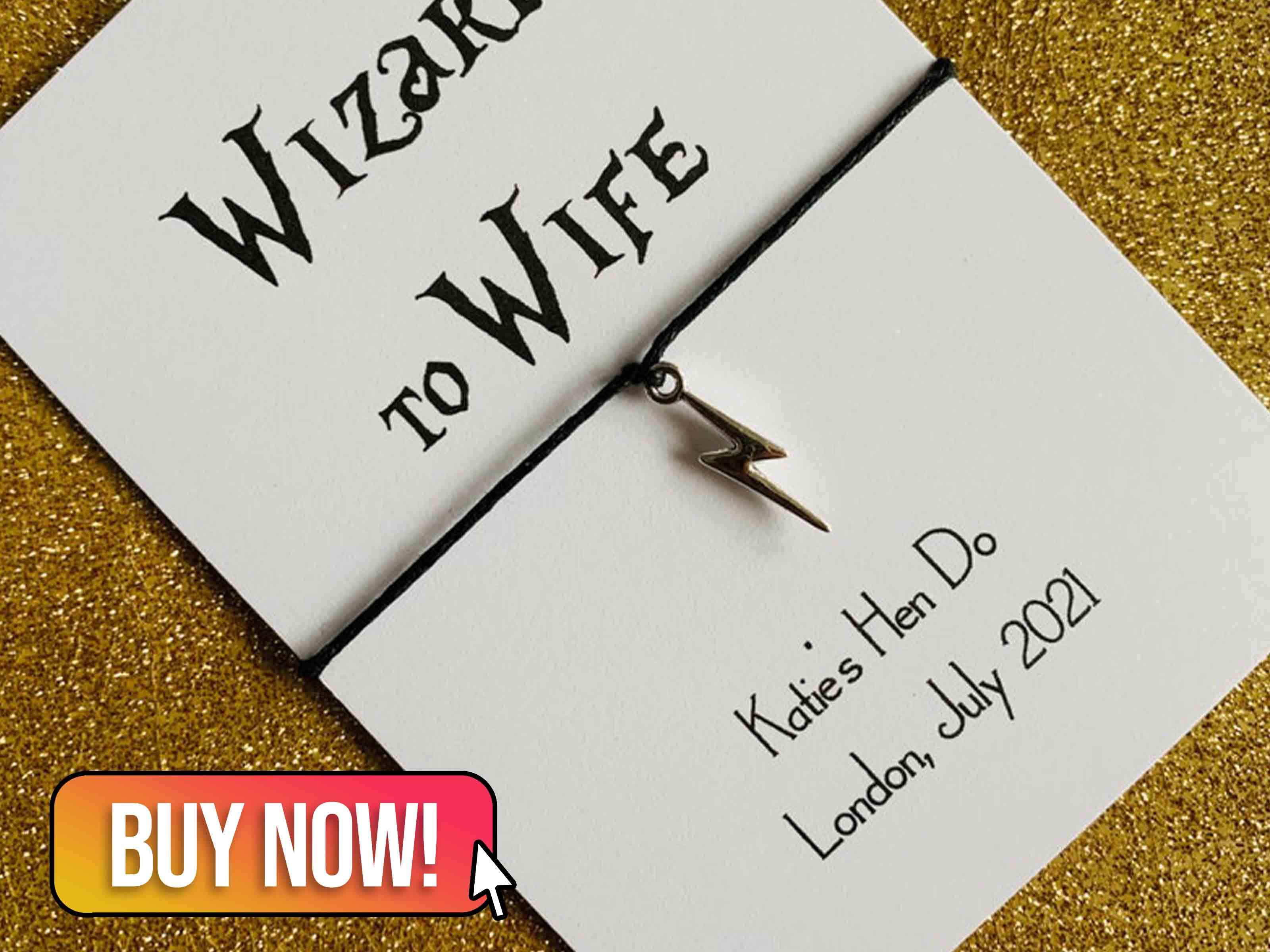 Wizard to Wife Personalised Hen Do Bracelet - QueenBeeWishes