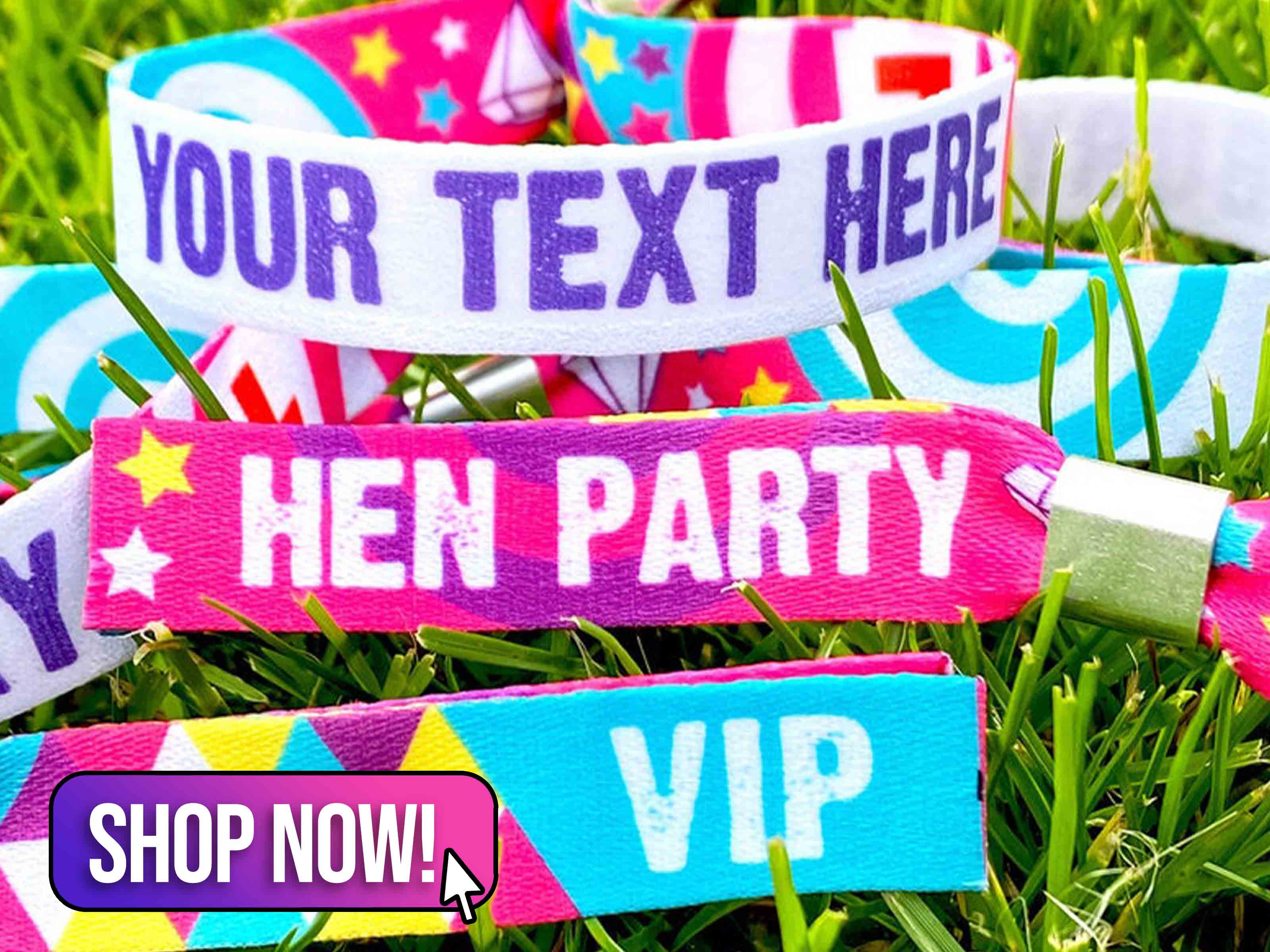 Customised Festival Hen Party Wristbands - WedfestWeddings
