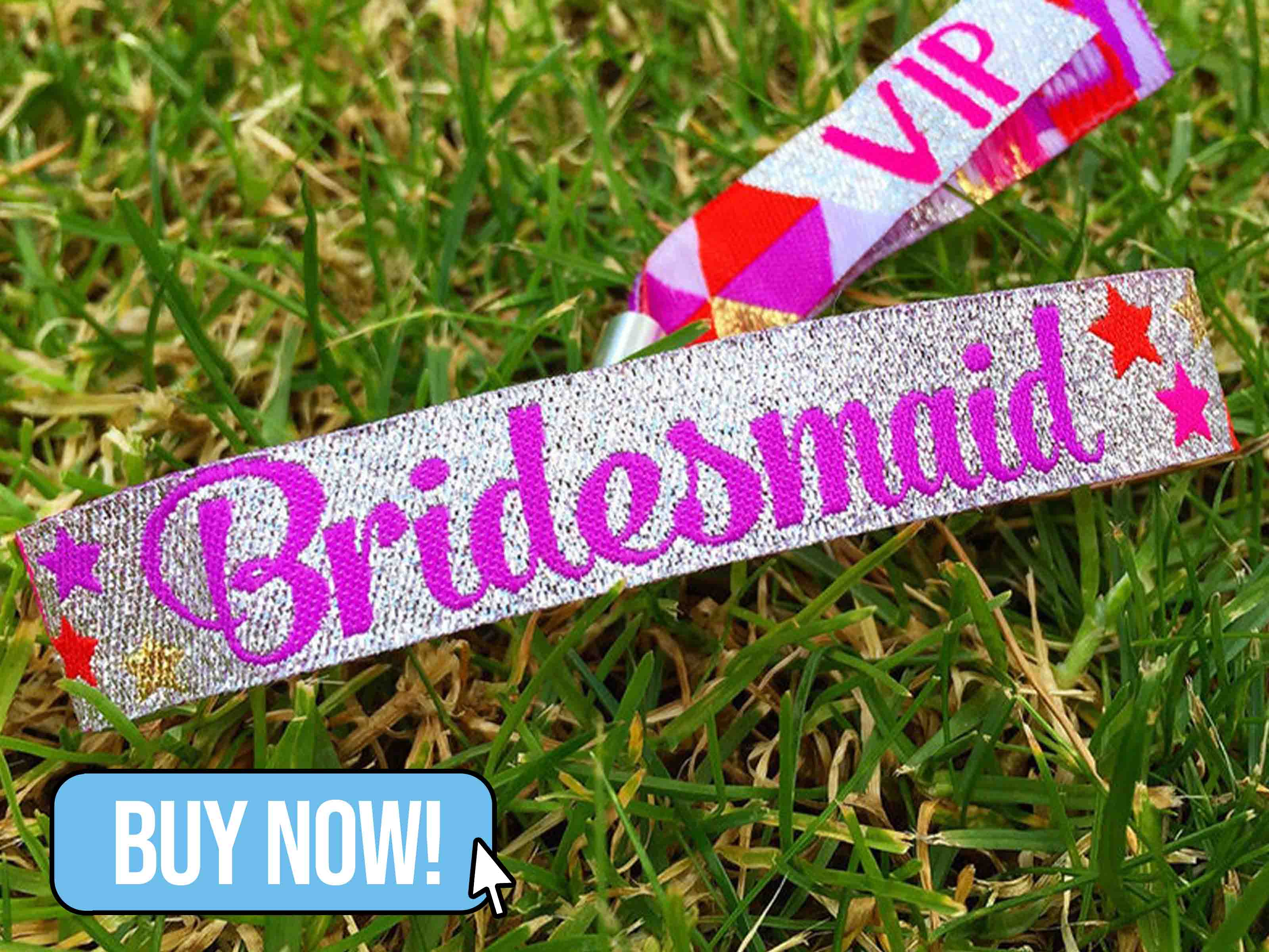 Bridesmaid Hen Party Wristbands - WedfestWeddings