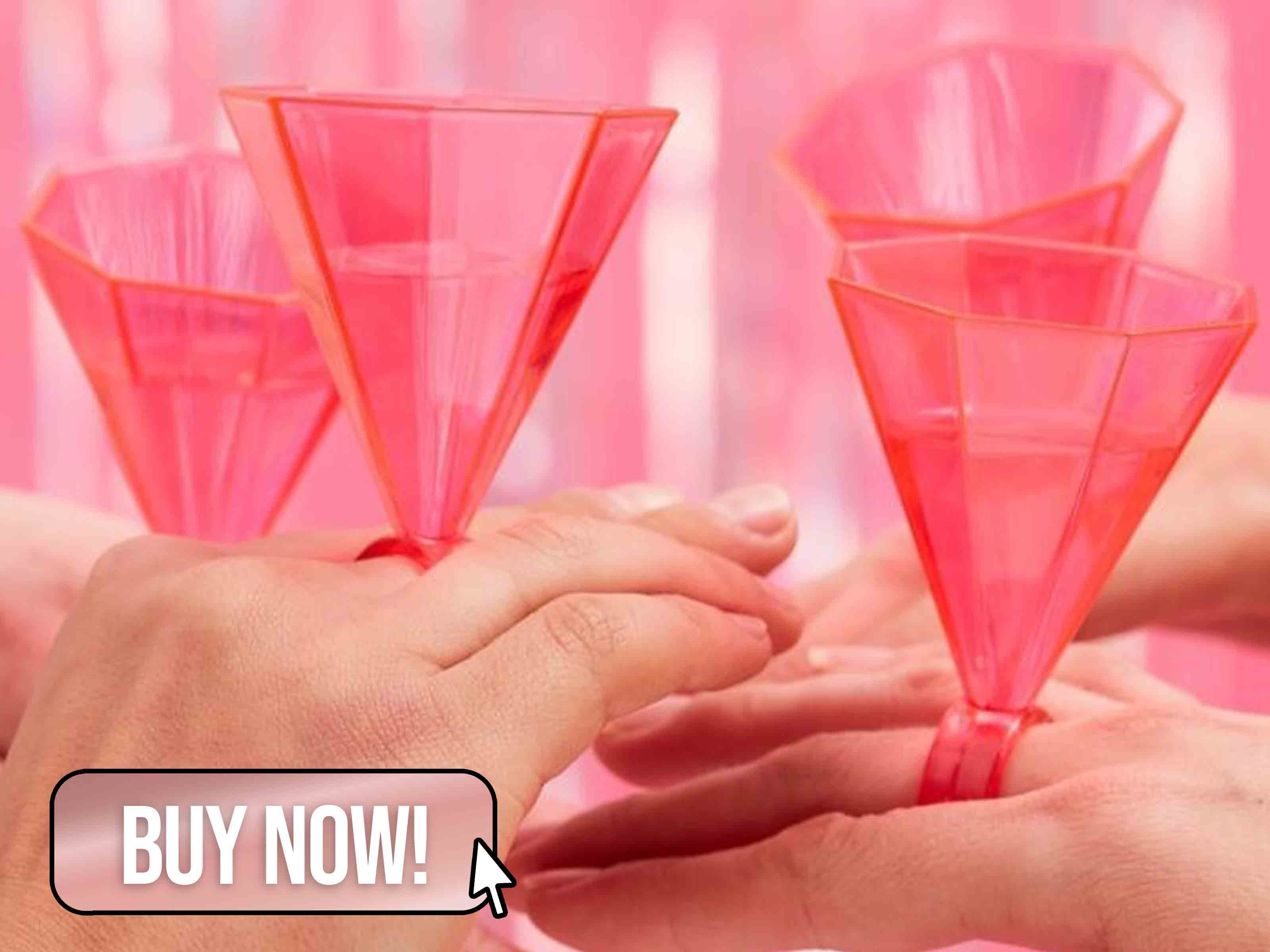 Hen Party Pink Ring Shot Glasses - Ginger Ray
