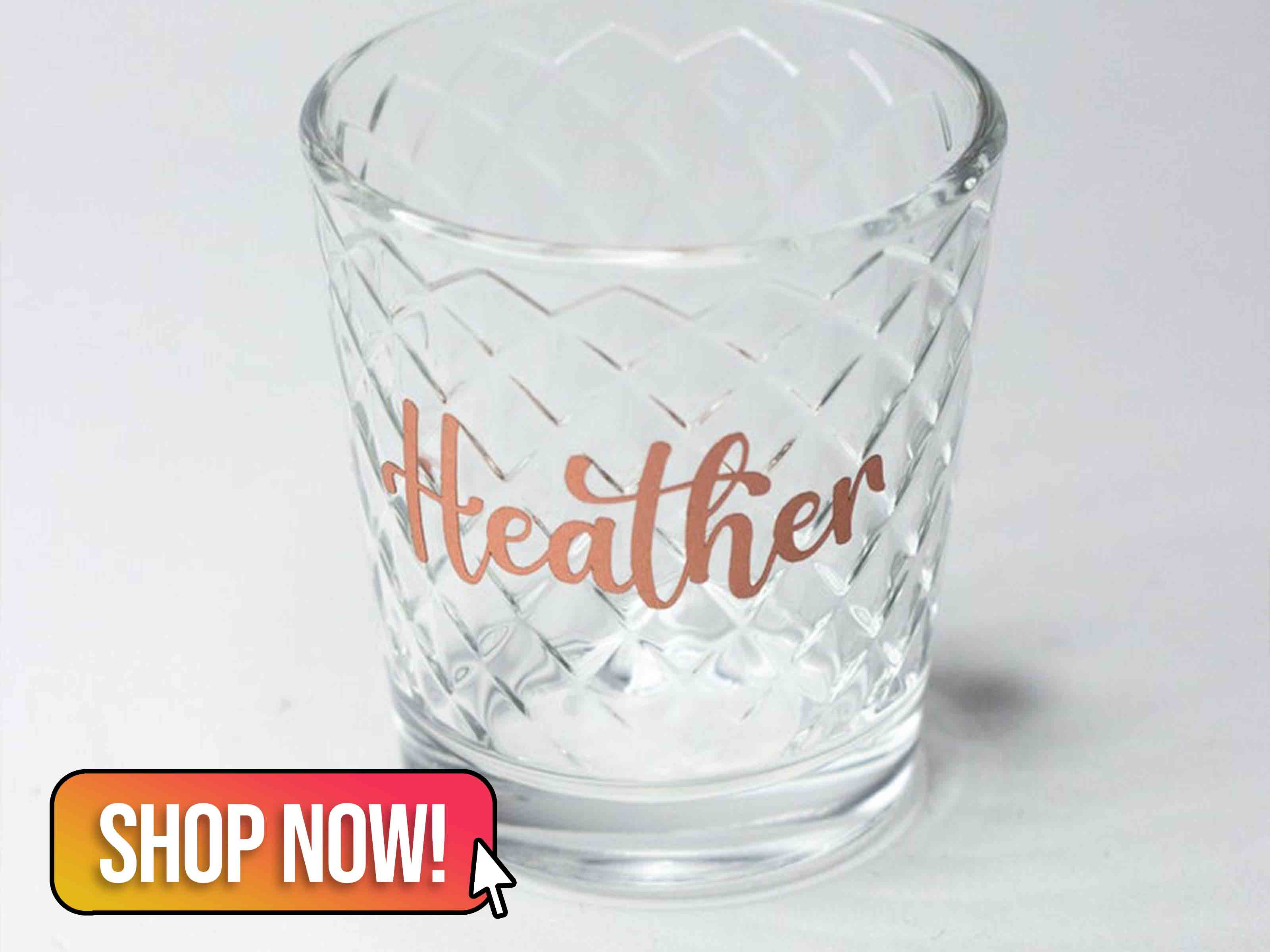 Personalised Shot Glass Hen Party - LunarSkyDesignsUK