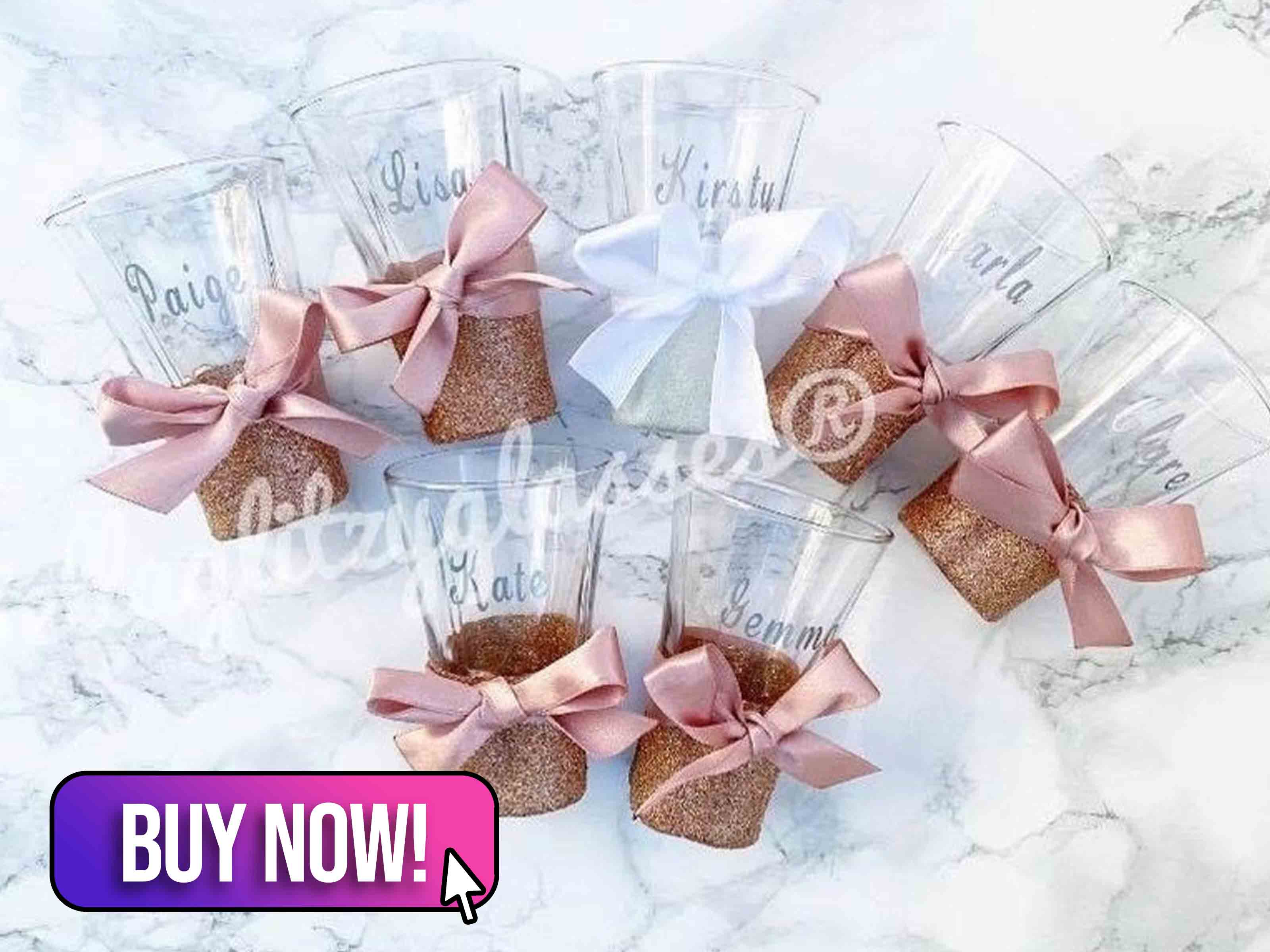 Personalised Hen Party Shot Glass - Bellaglitterglasses