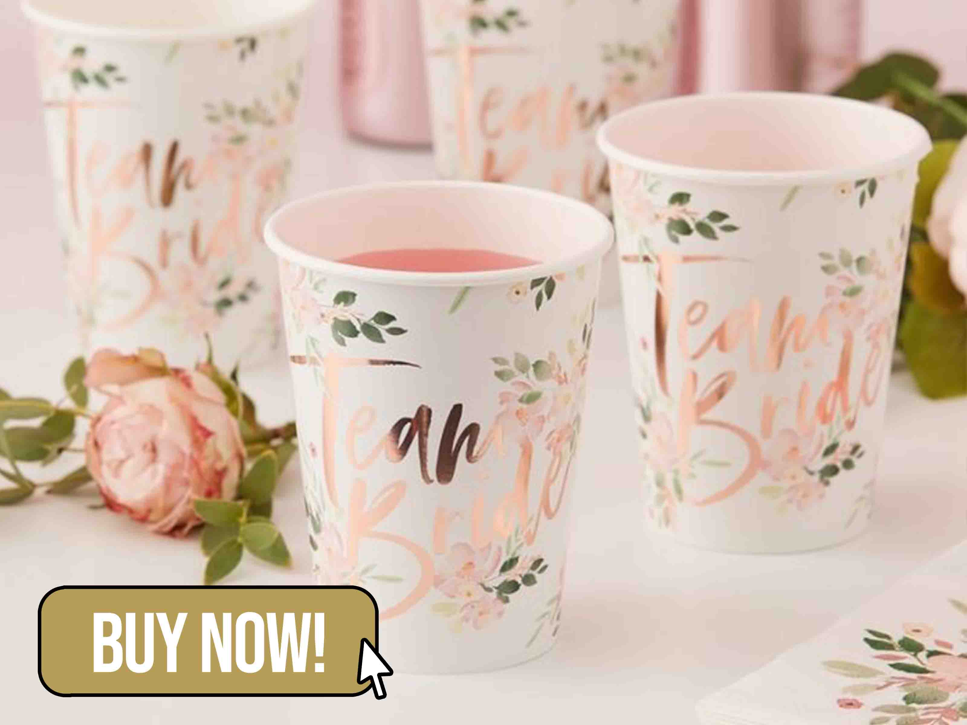 Floral Team Bride Cups - Ginger Ray