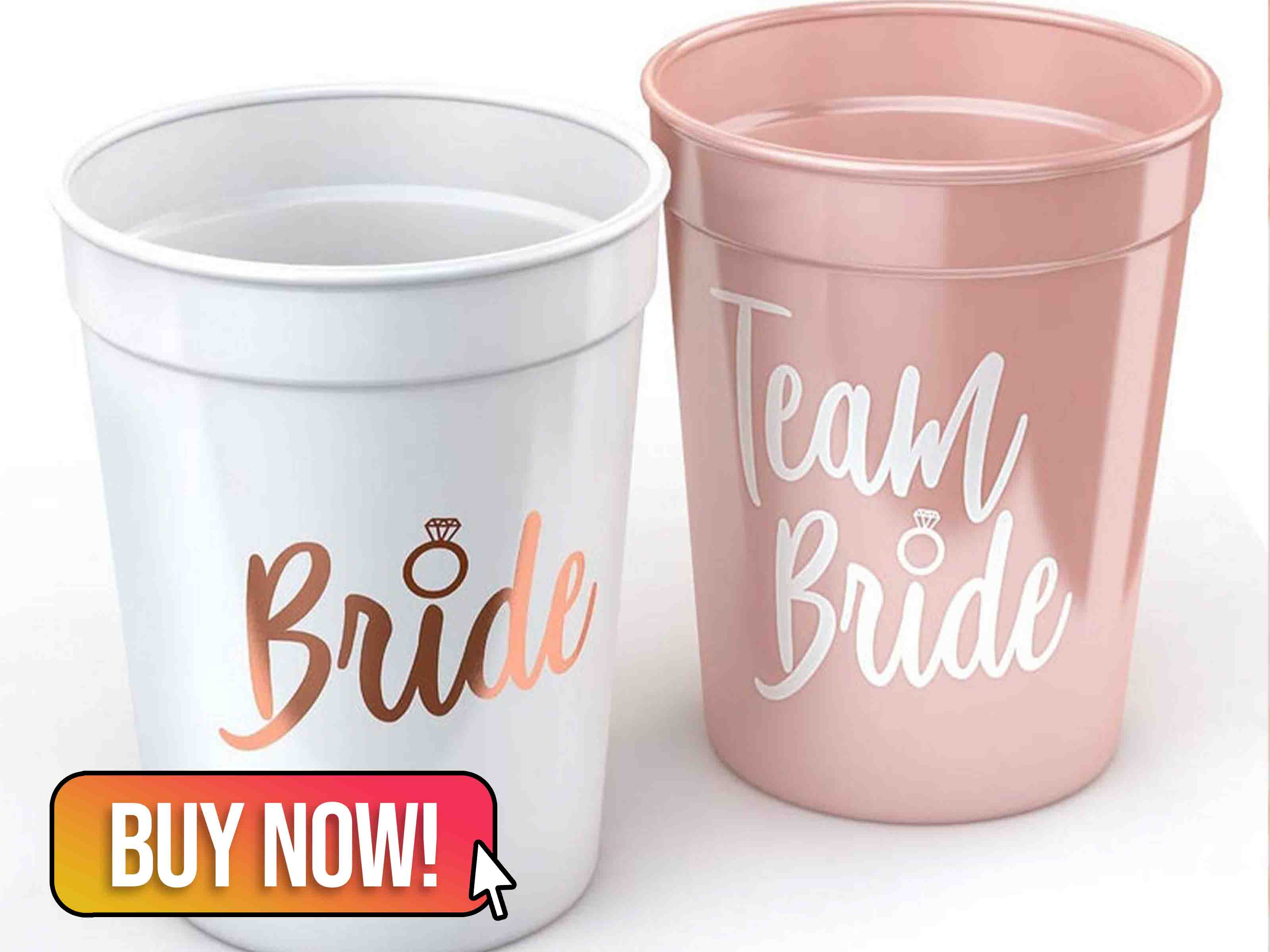 Wedding Bridal Shower Team Bride Cups - partytreasuresco