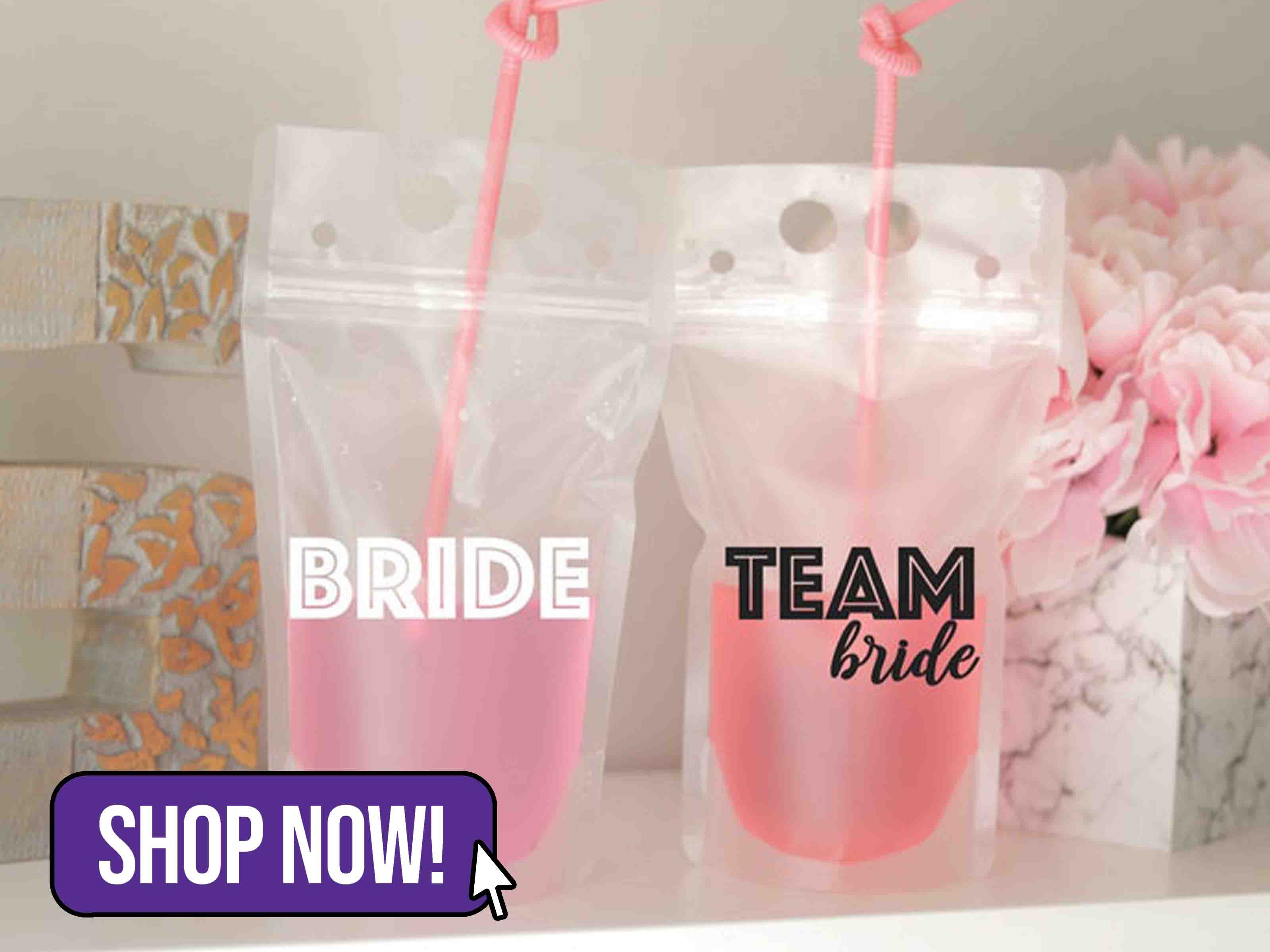 Team Bride Hen Party Drinks Pouch - SassyandCoDesigns