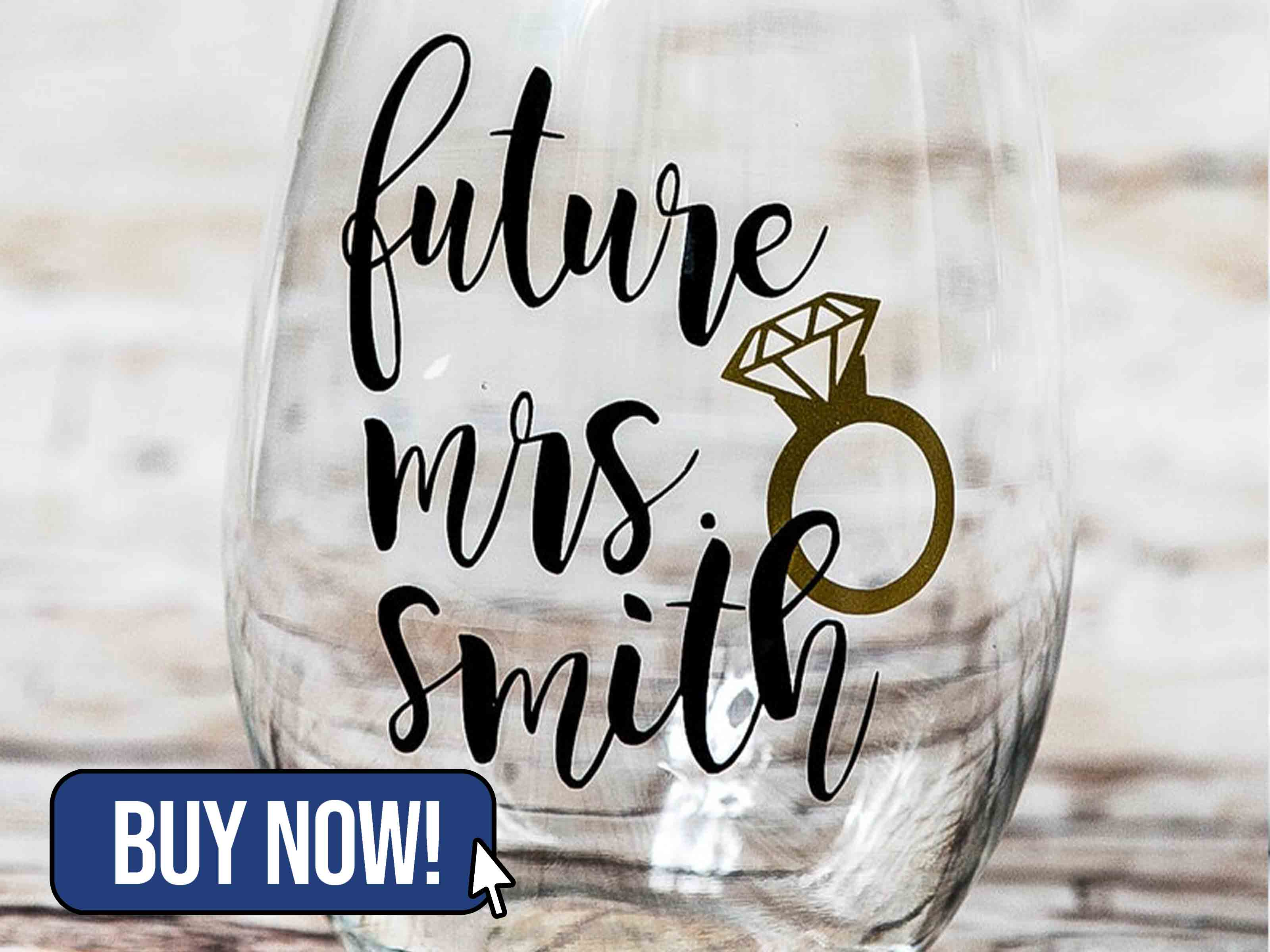Future Mrs Personalized Glass - TraceysTrendyVinyl