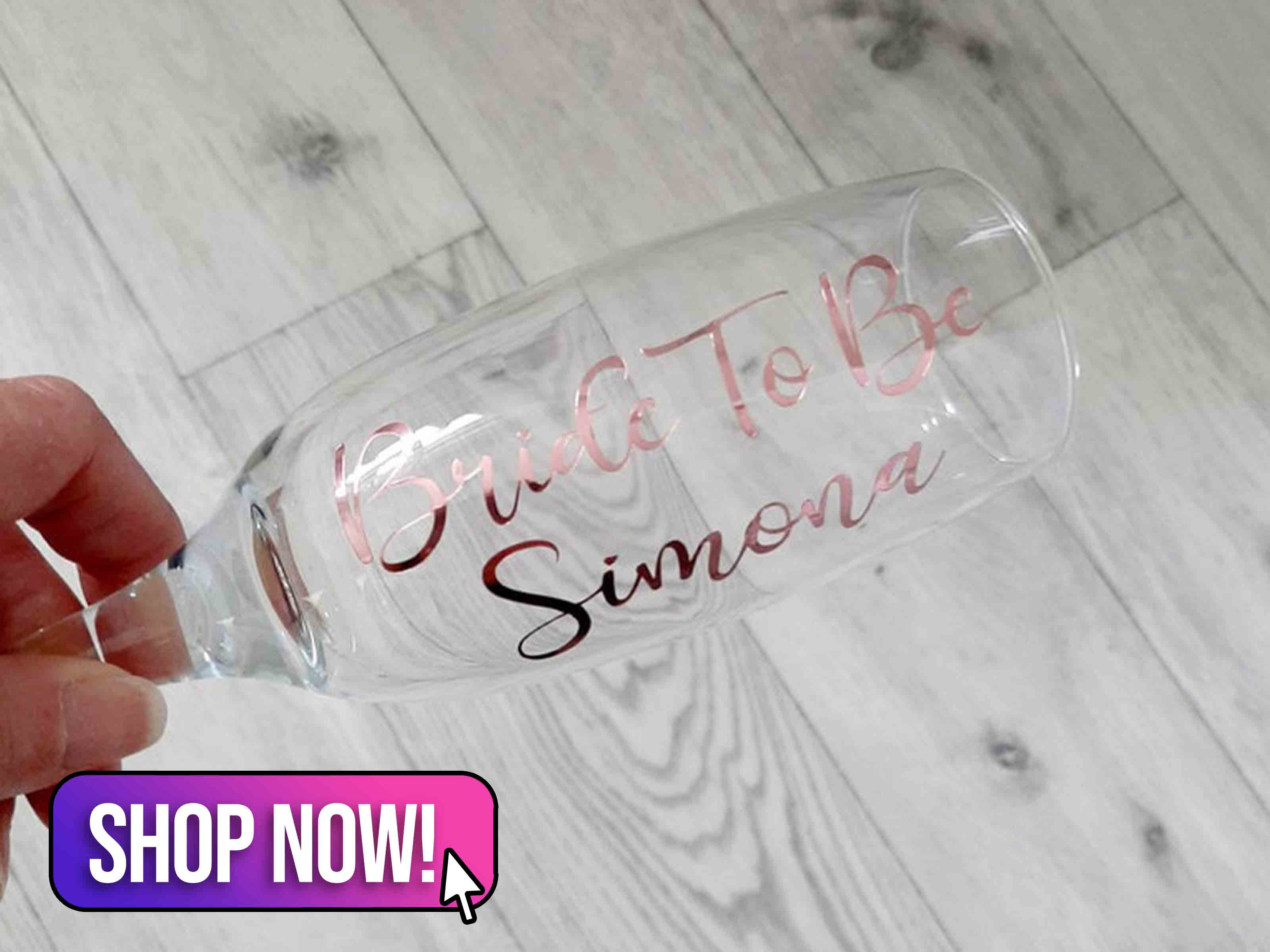 Bride To Be Champagne Flute - VinylArtStudioGifts