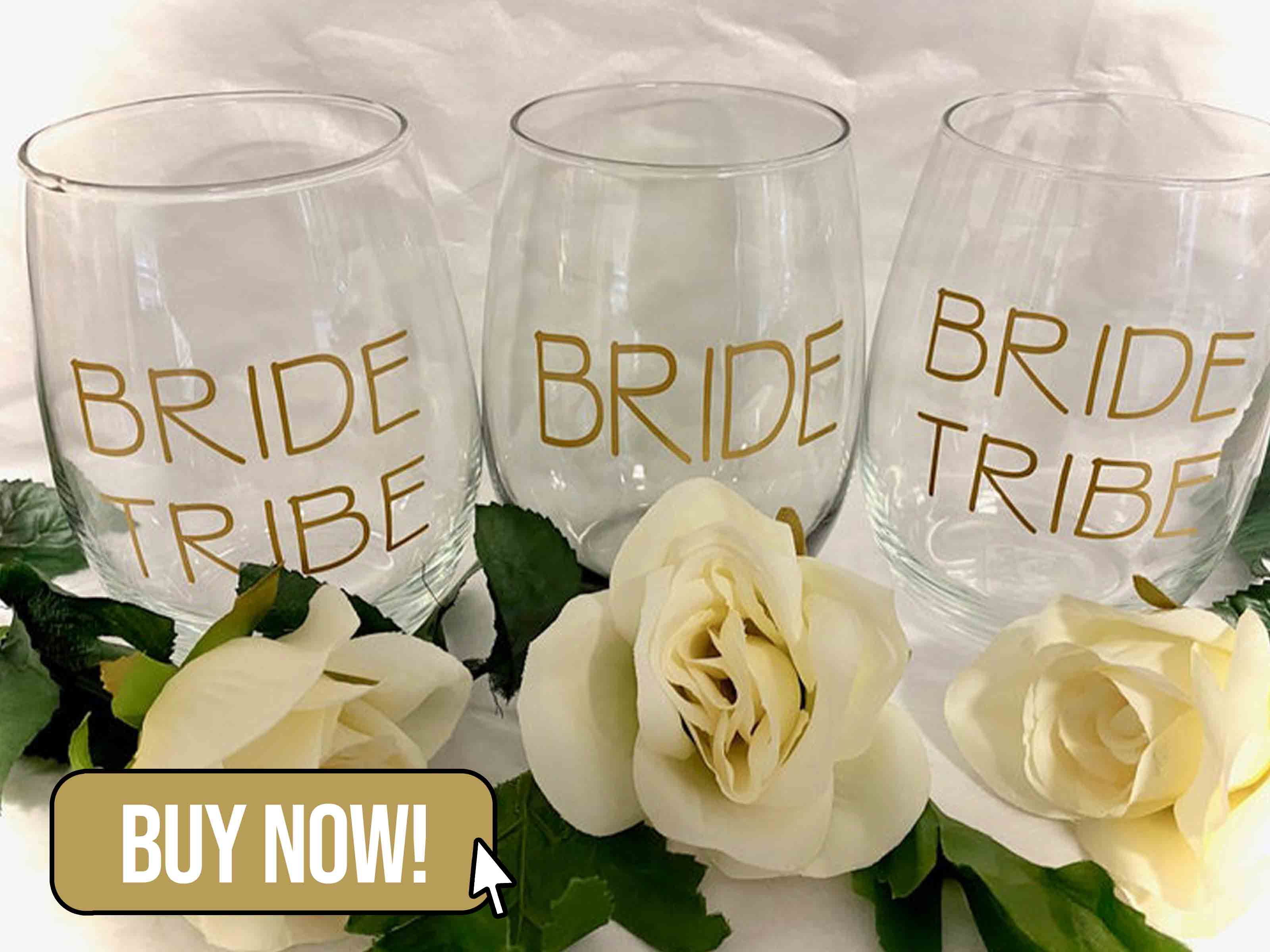 Bride Tribe Stemless Wine Glasses - MMbyPayton