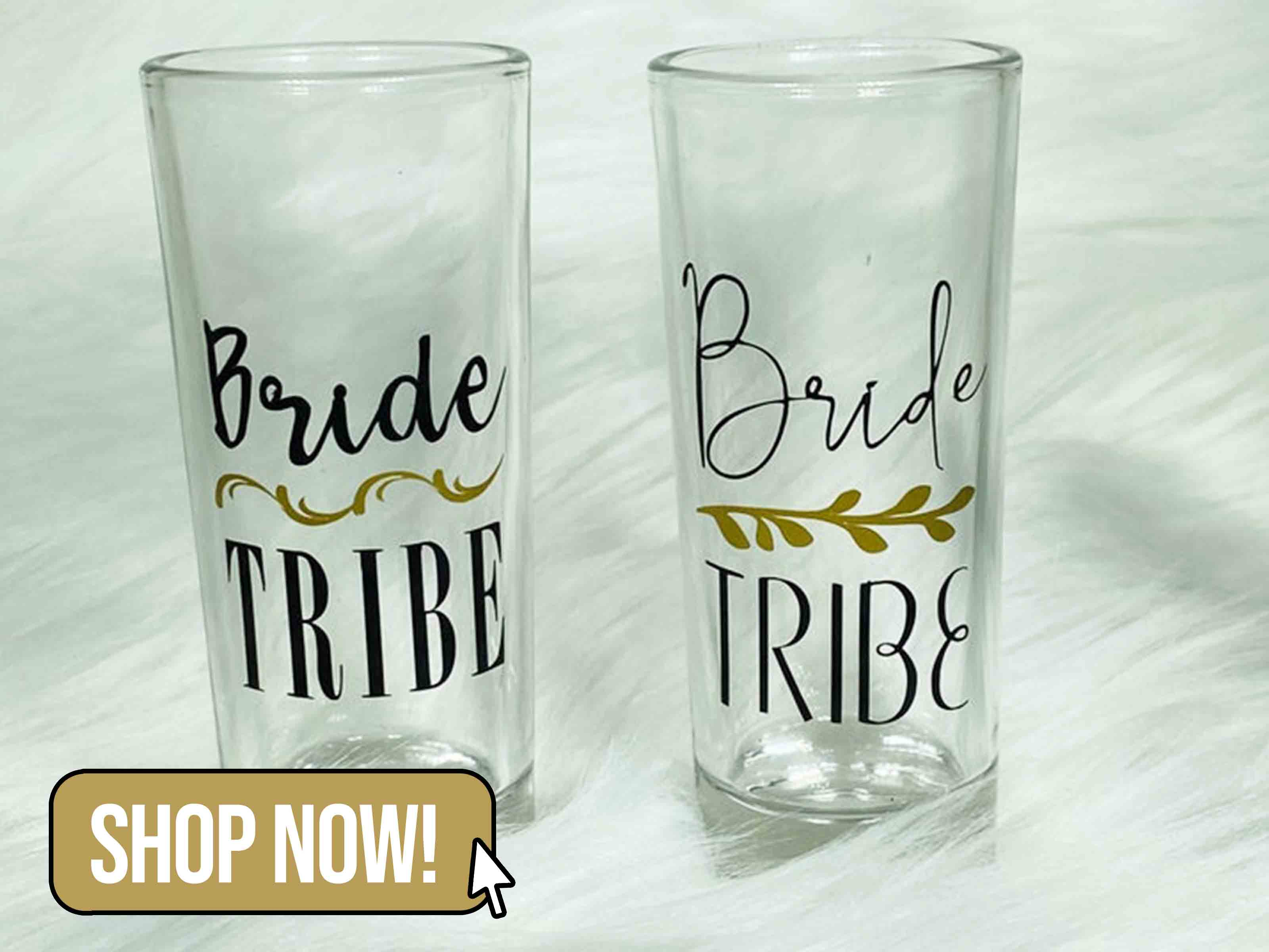 Bride Tribe Shot Glasses - FloresByJessica