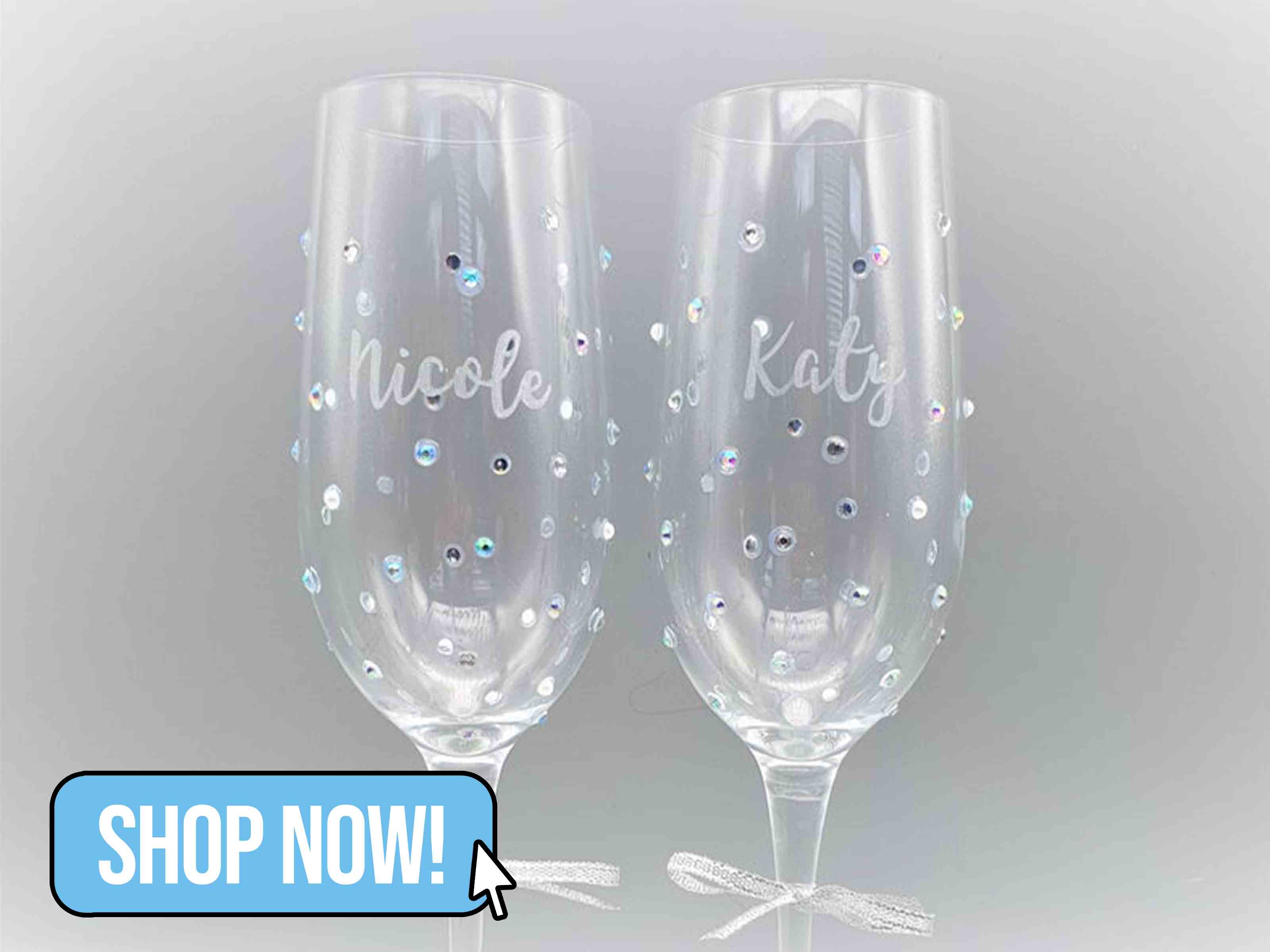 Personalised Champagne Flute - StokesCreativeDesign