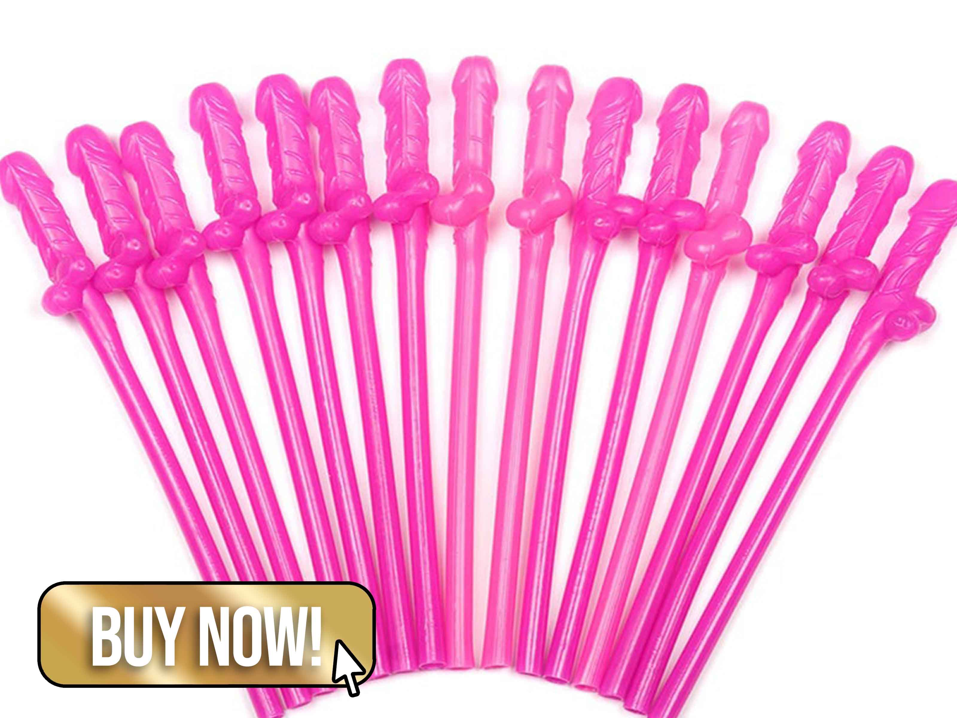 Pink Willy Straws