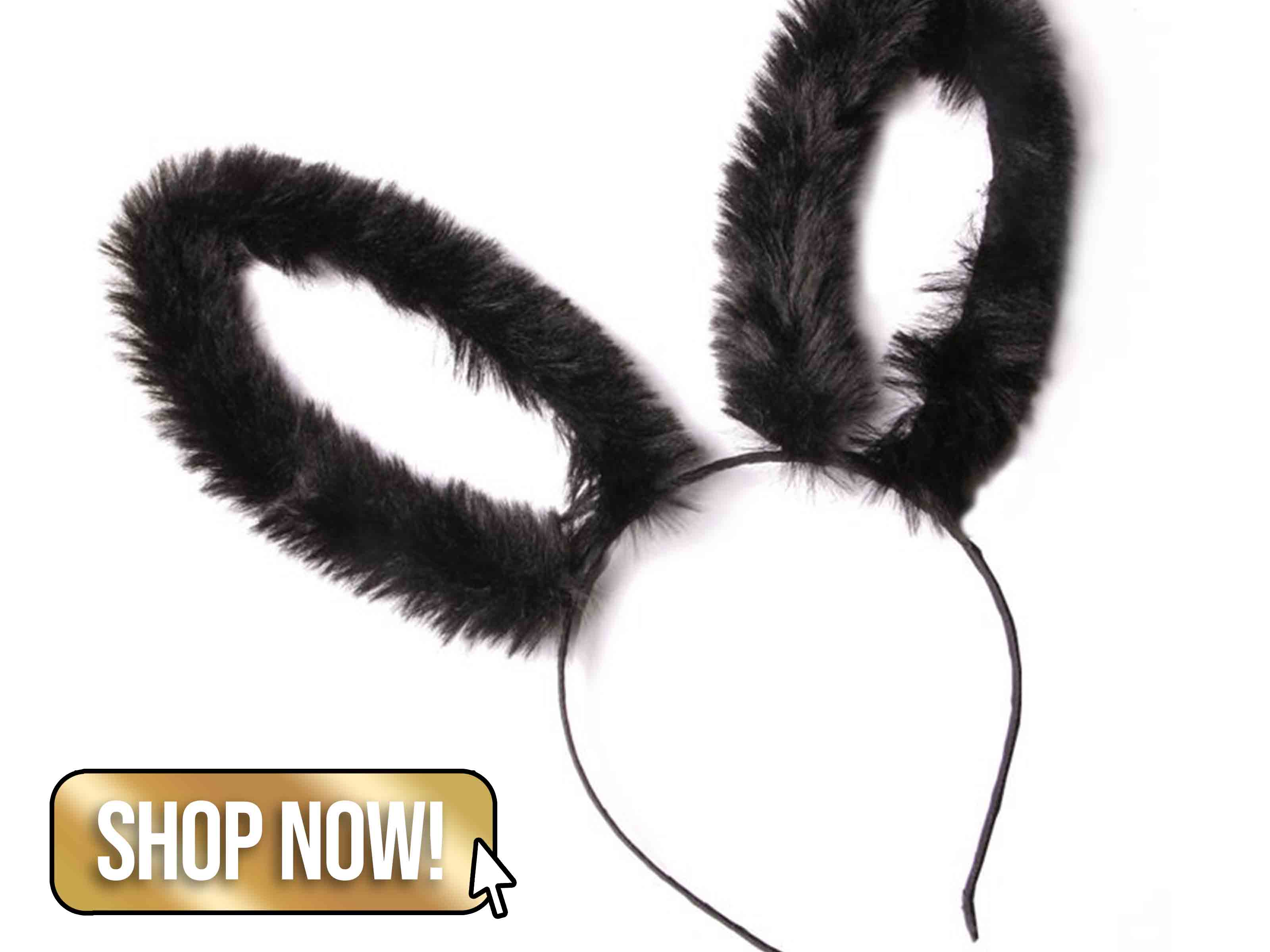 Black Feather Bunny Ears