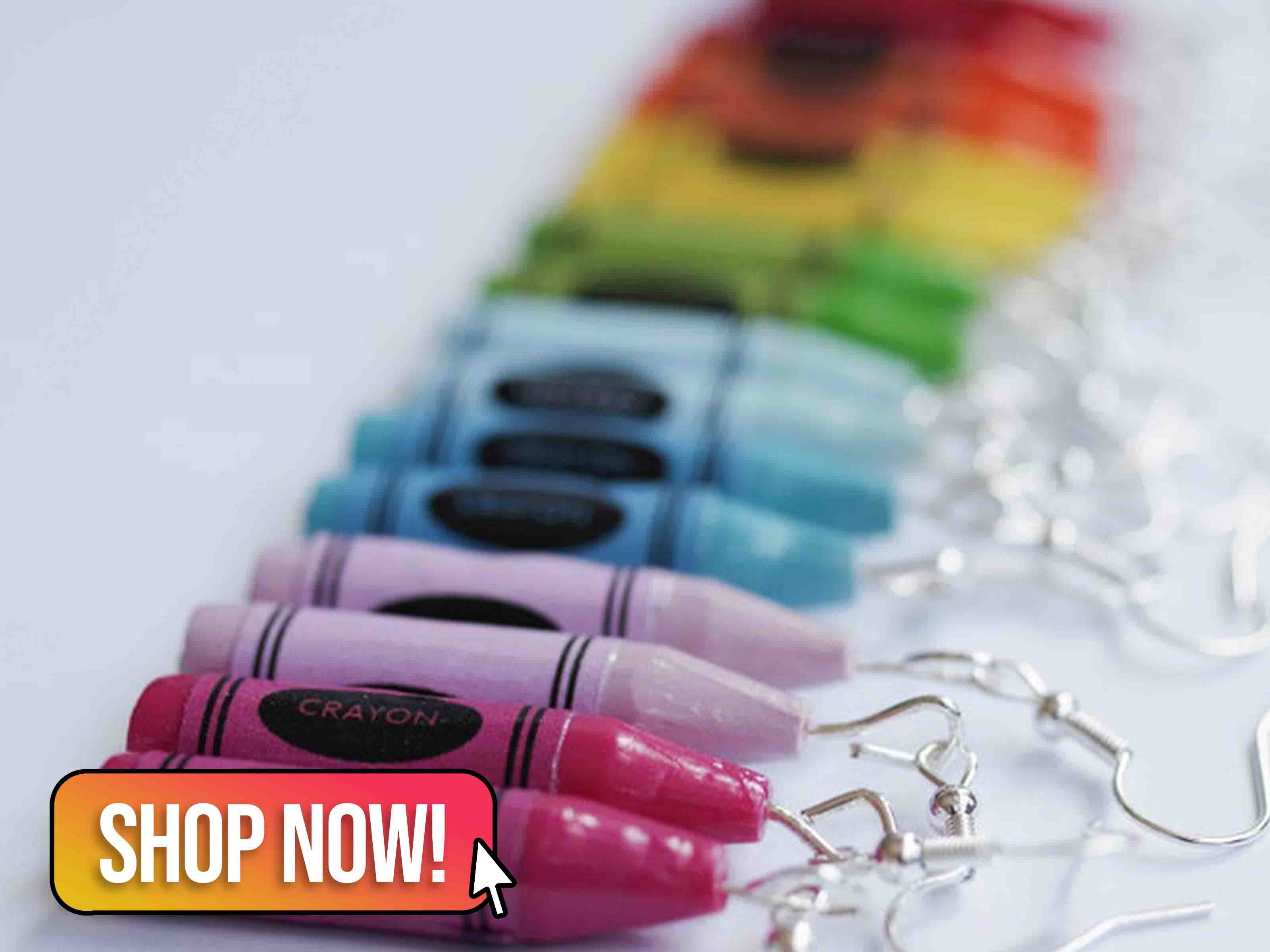 Rainbow Crayon Earrings