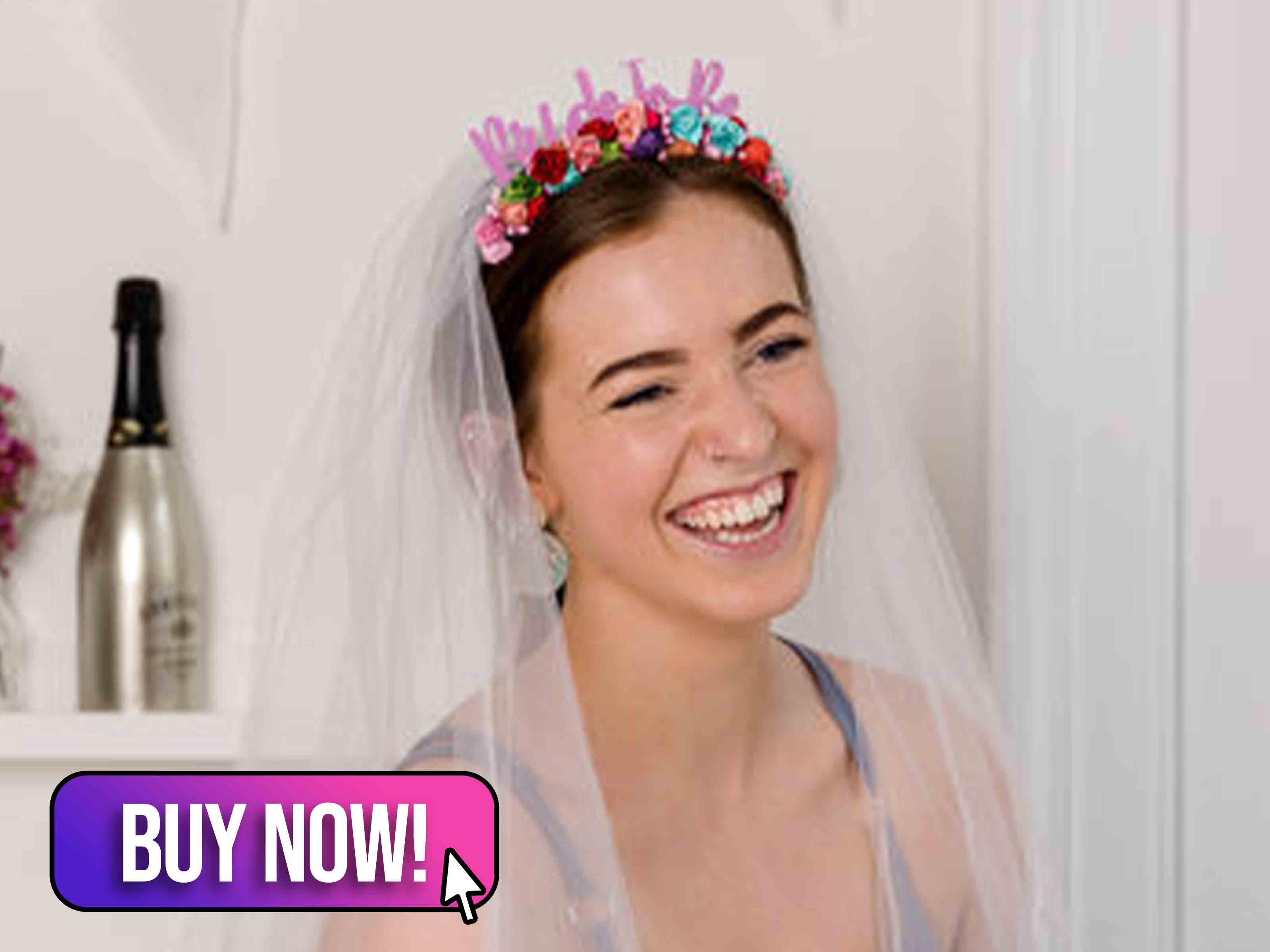 Floral Headband With Detachable Veil - Not on The Highstreet