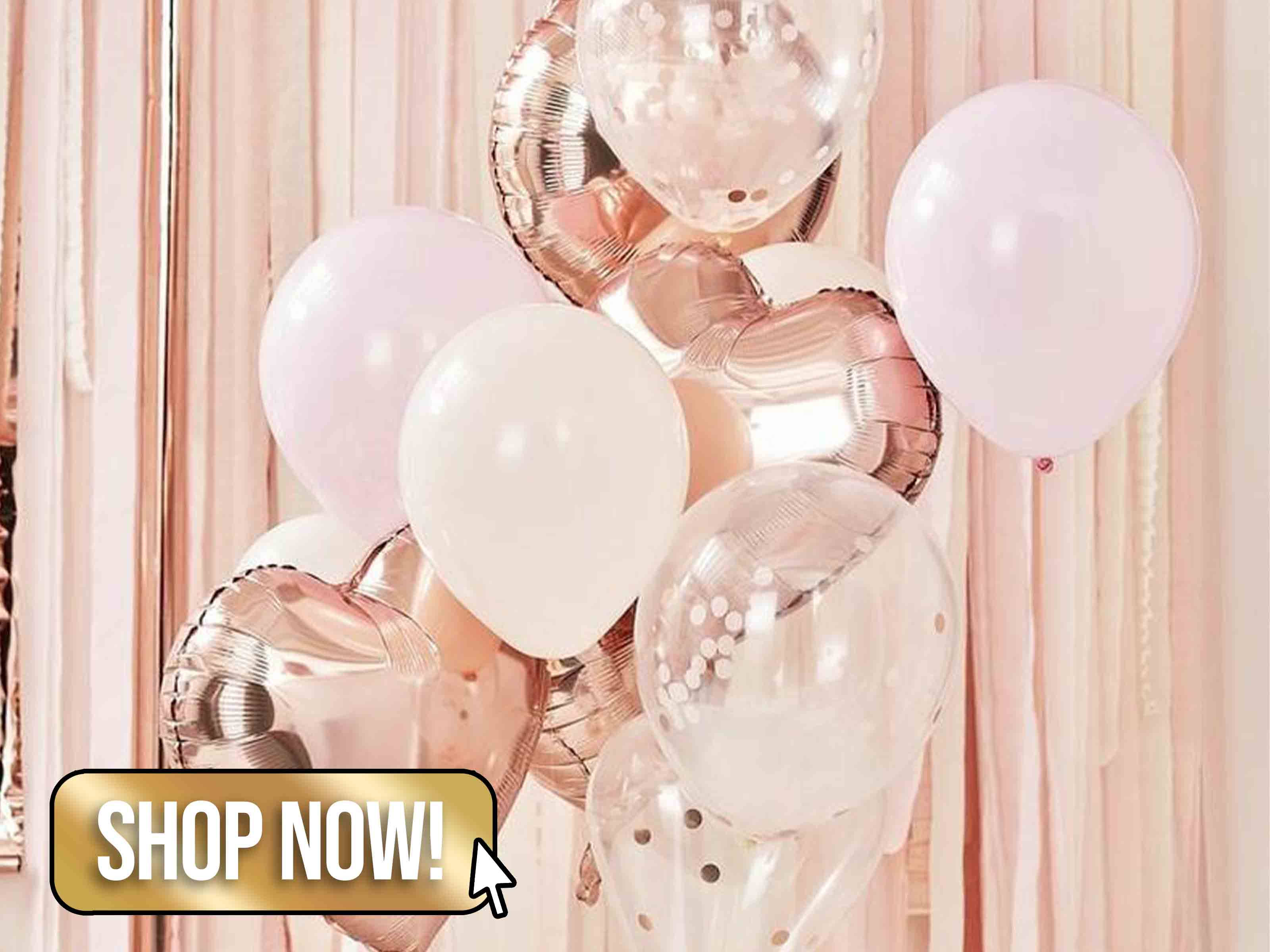 Rose Gold Balloon Bouquet - PartyTouchesUK