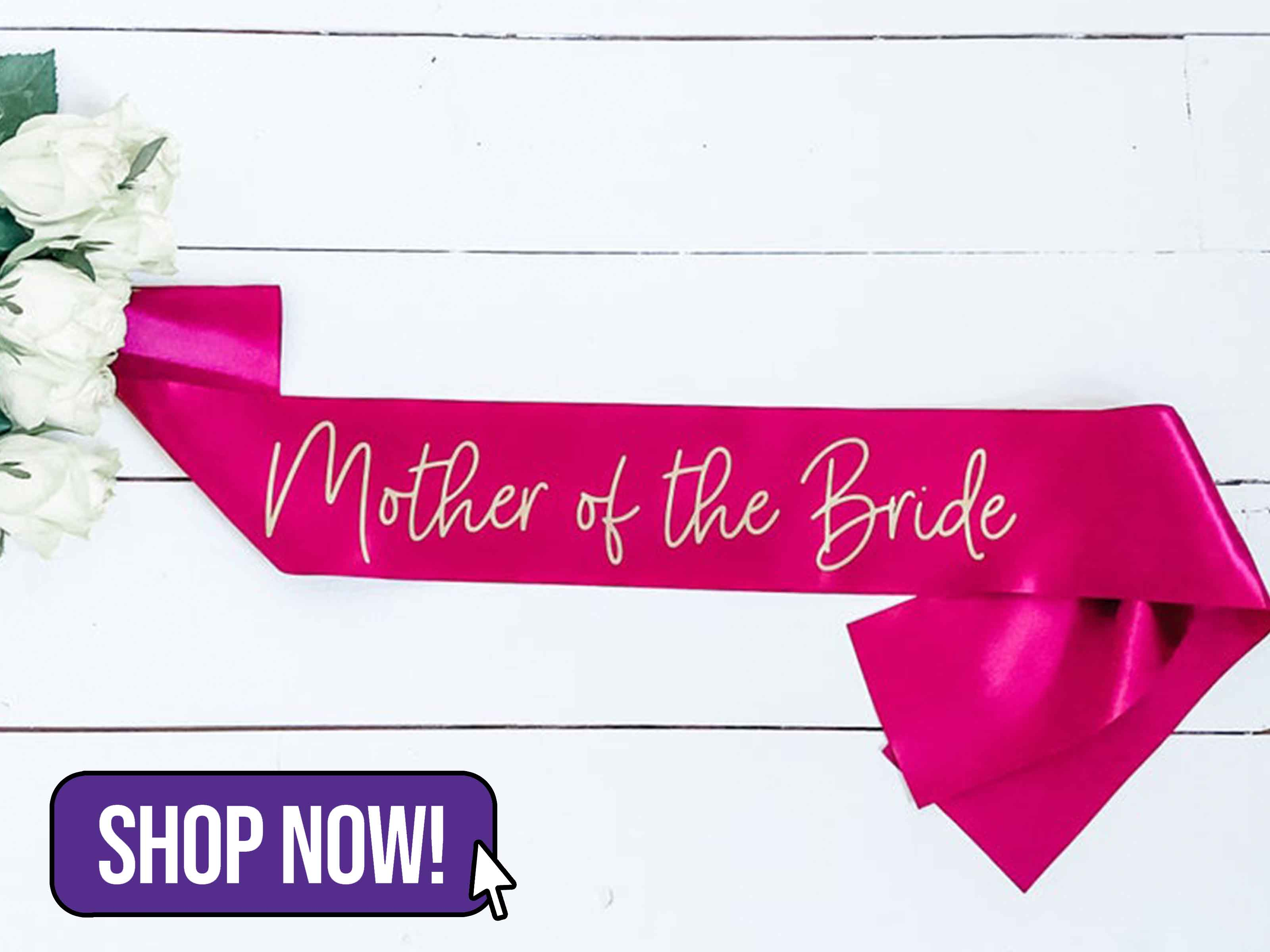 Custom Mother of the Bride Sash - hooraydays