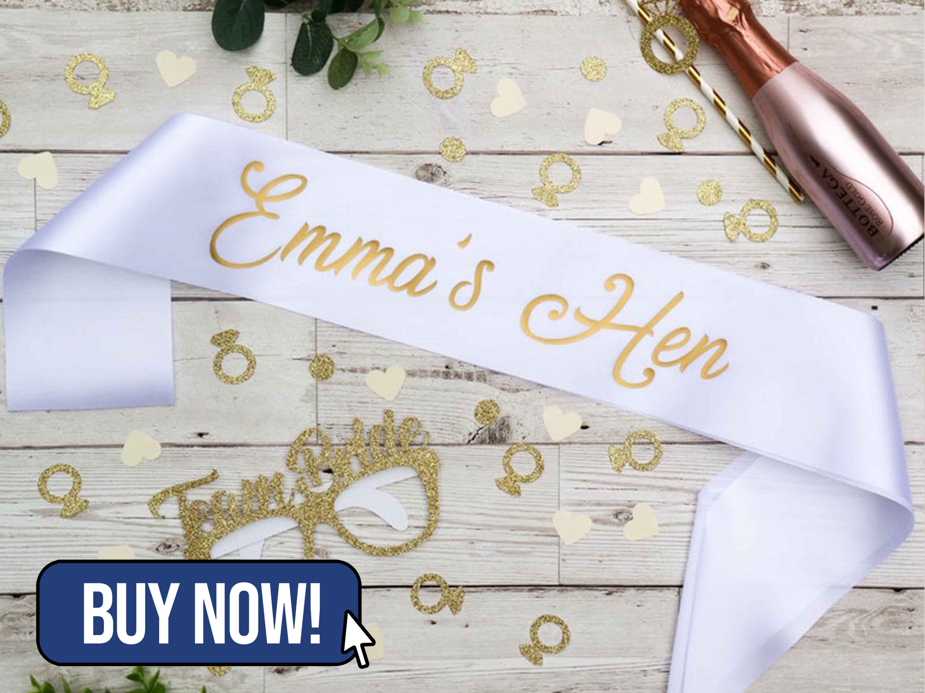 Name Hen Sash/Ribbon Personalised - BHWDesigns