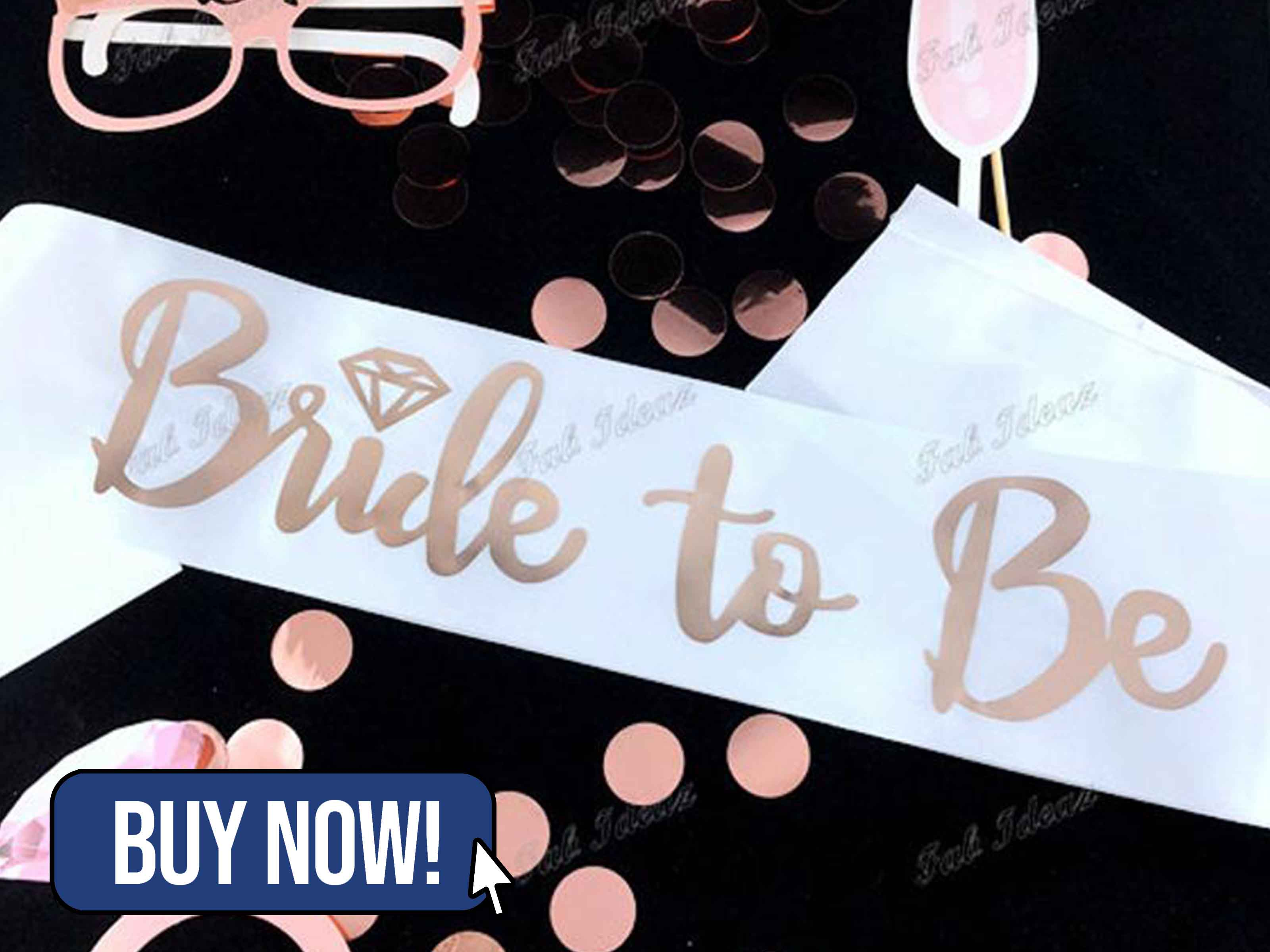 Rose Gold Bride To Be Sash - FabIdeazAu