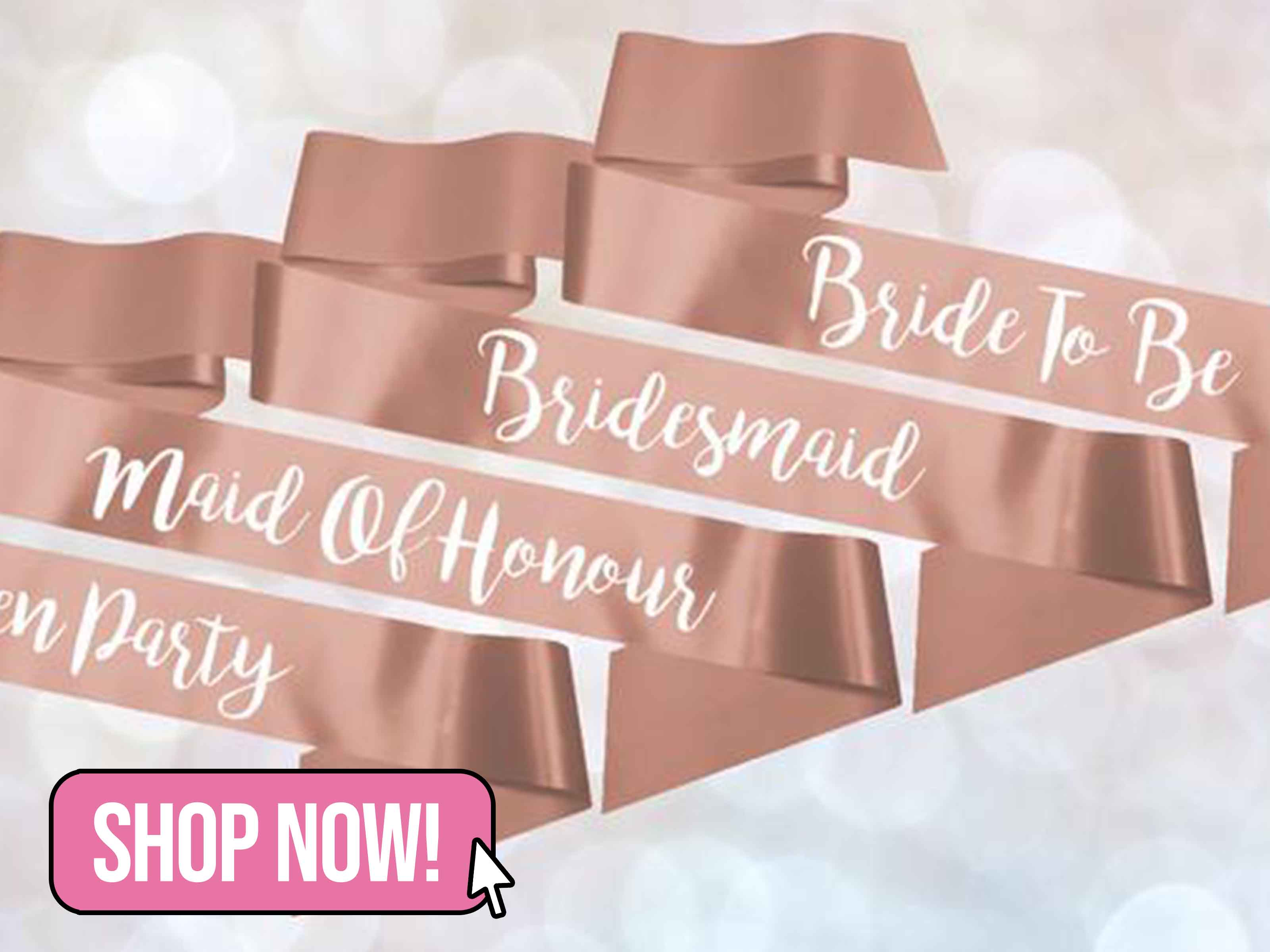 Personalised Wedding Hen Party Satin Ribbon - ScattyCow