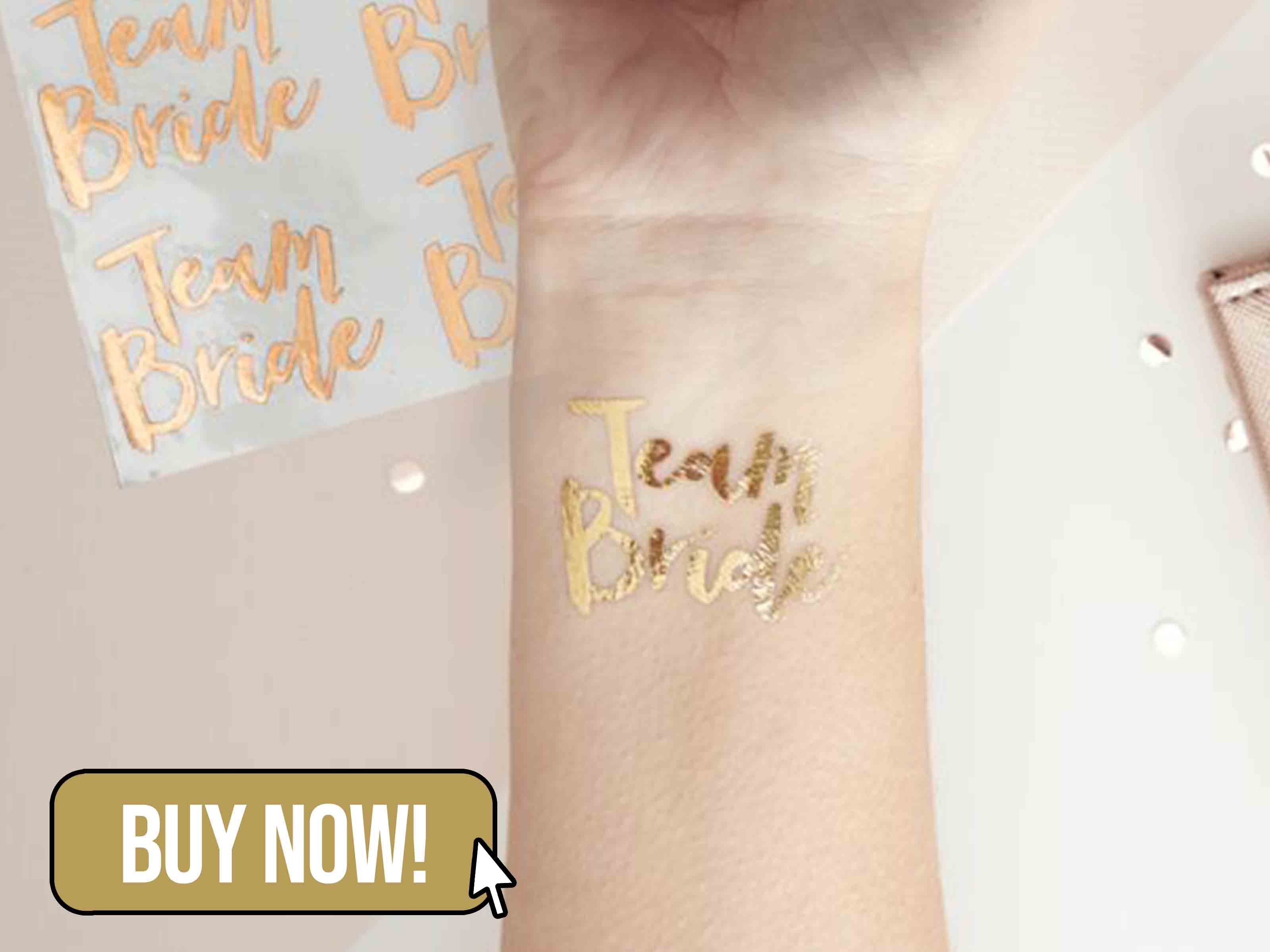 ROSE GOLD TEAM BRIDE TEMPORARY TATTOO - Ginger Ray