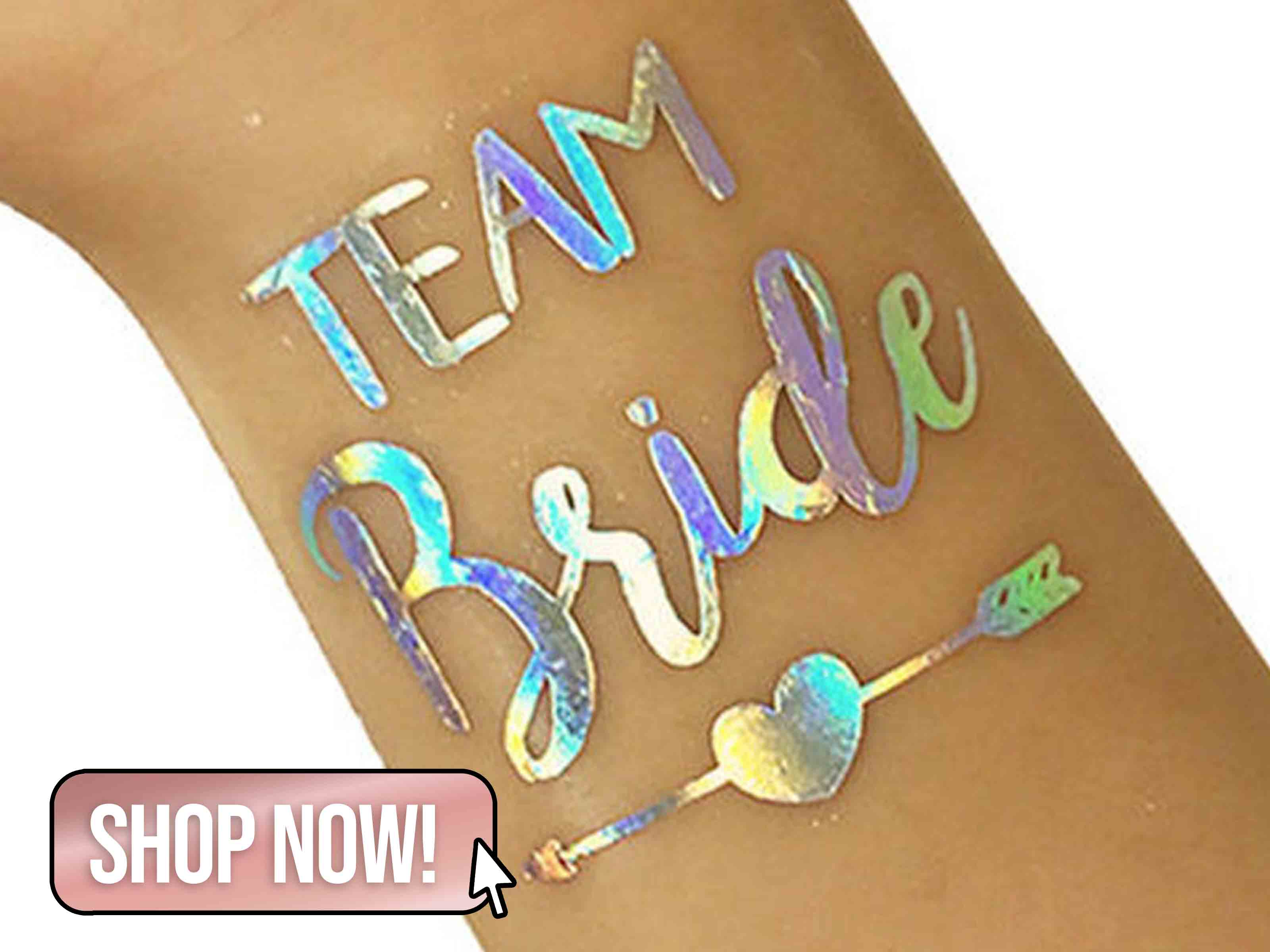 Team Bride Bachelorette Temporary Tattoo - Cabellobands