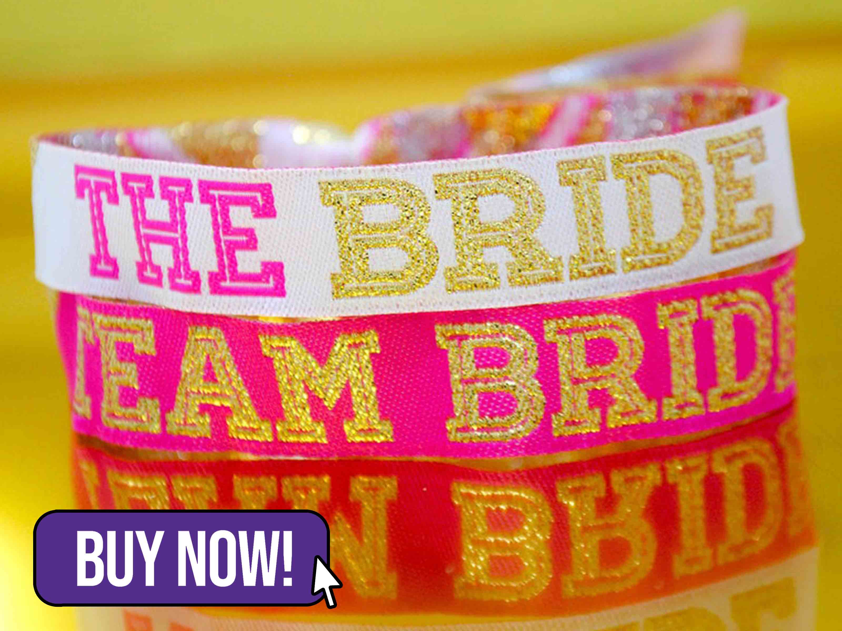 Team Bride 'Cheerleader' Hen Party Wristbands - WedfestWeddings