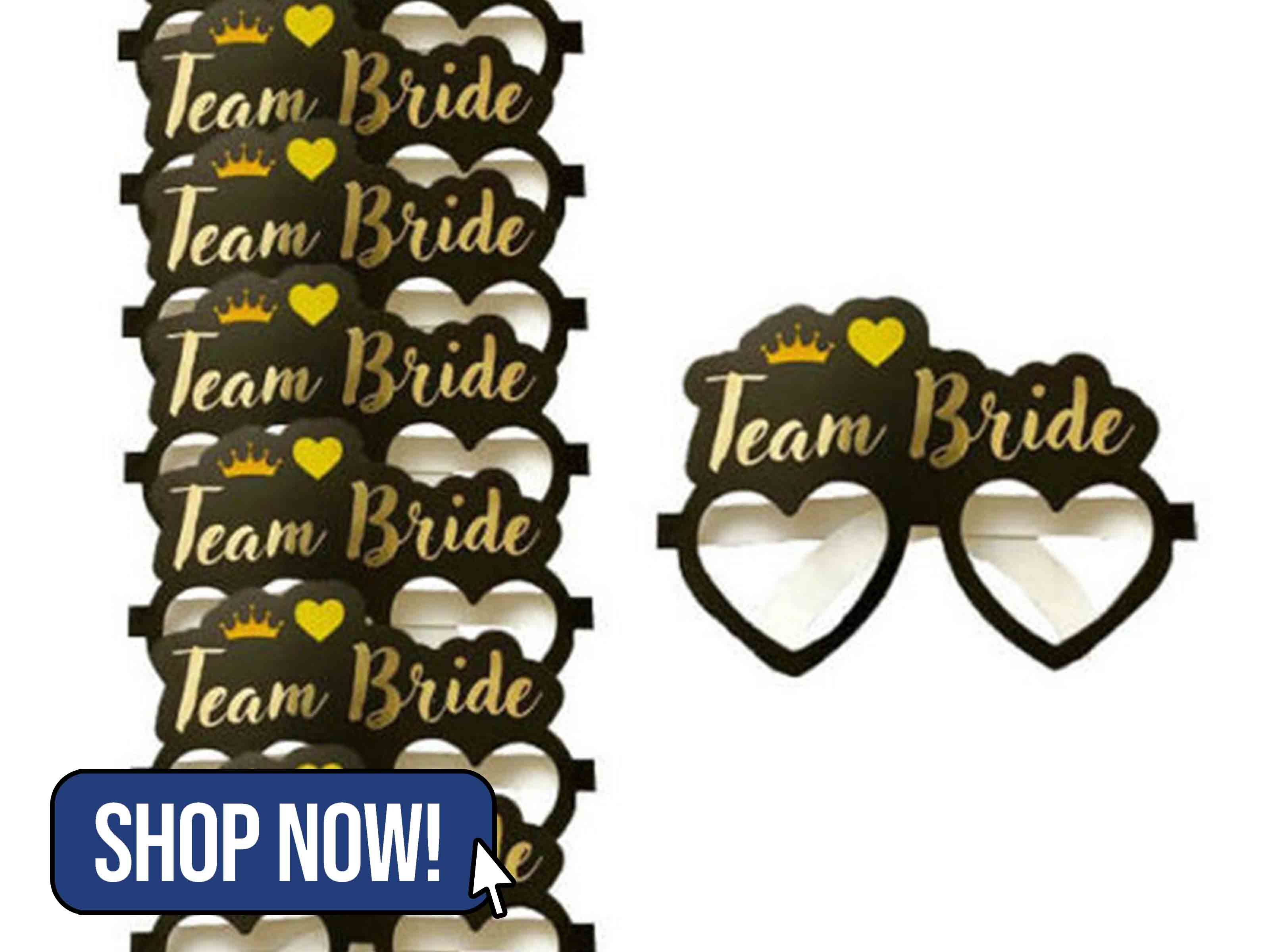 Team Bride Glasses - blueplanetfancydress