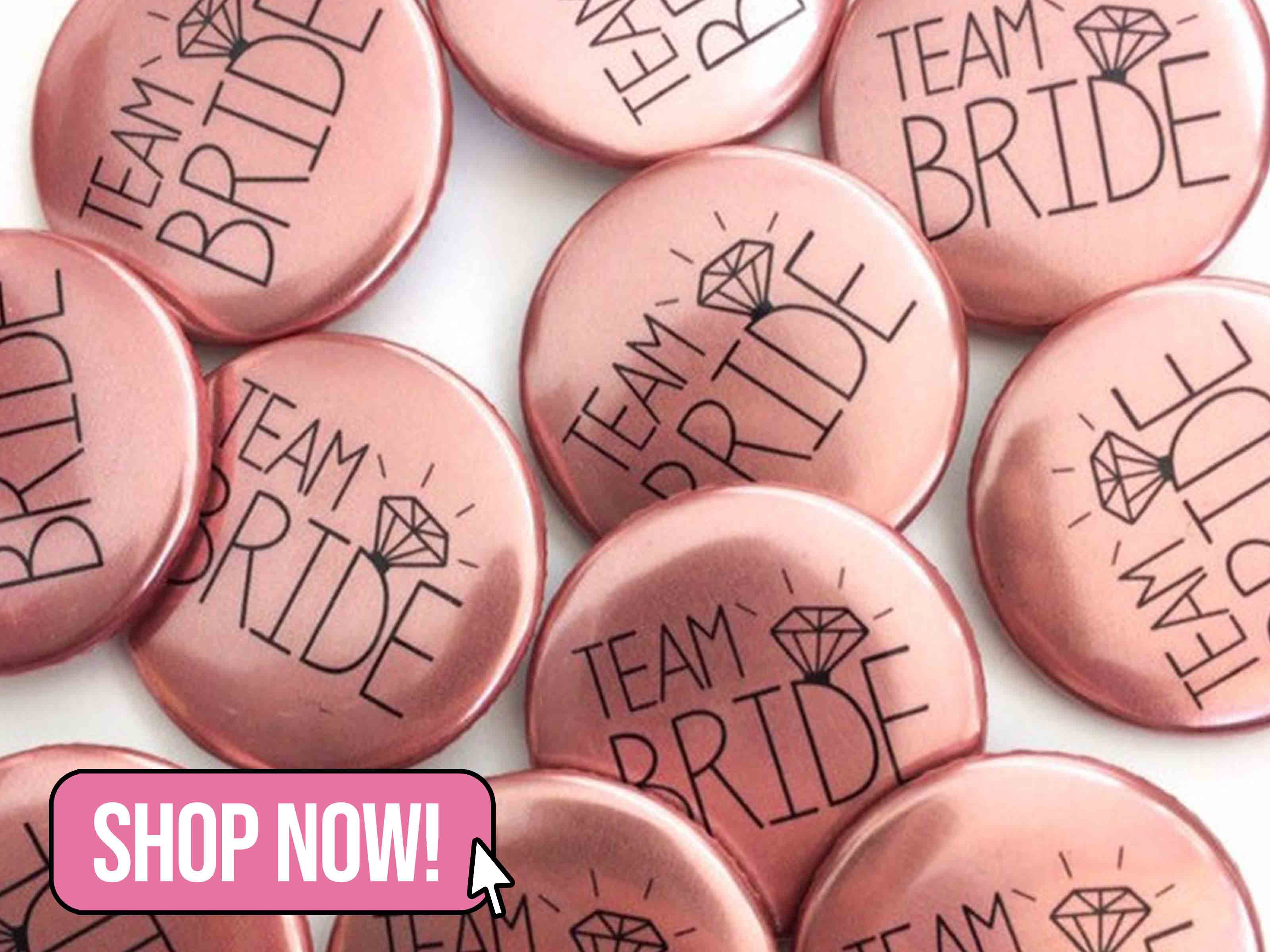 Rose Gold Hen Party Badges - MakeLoops