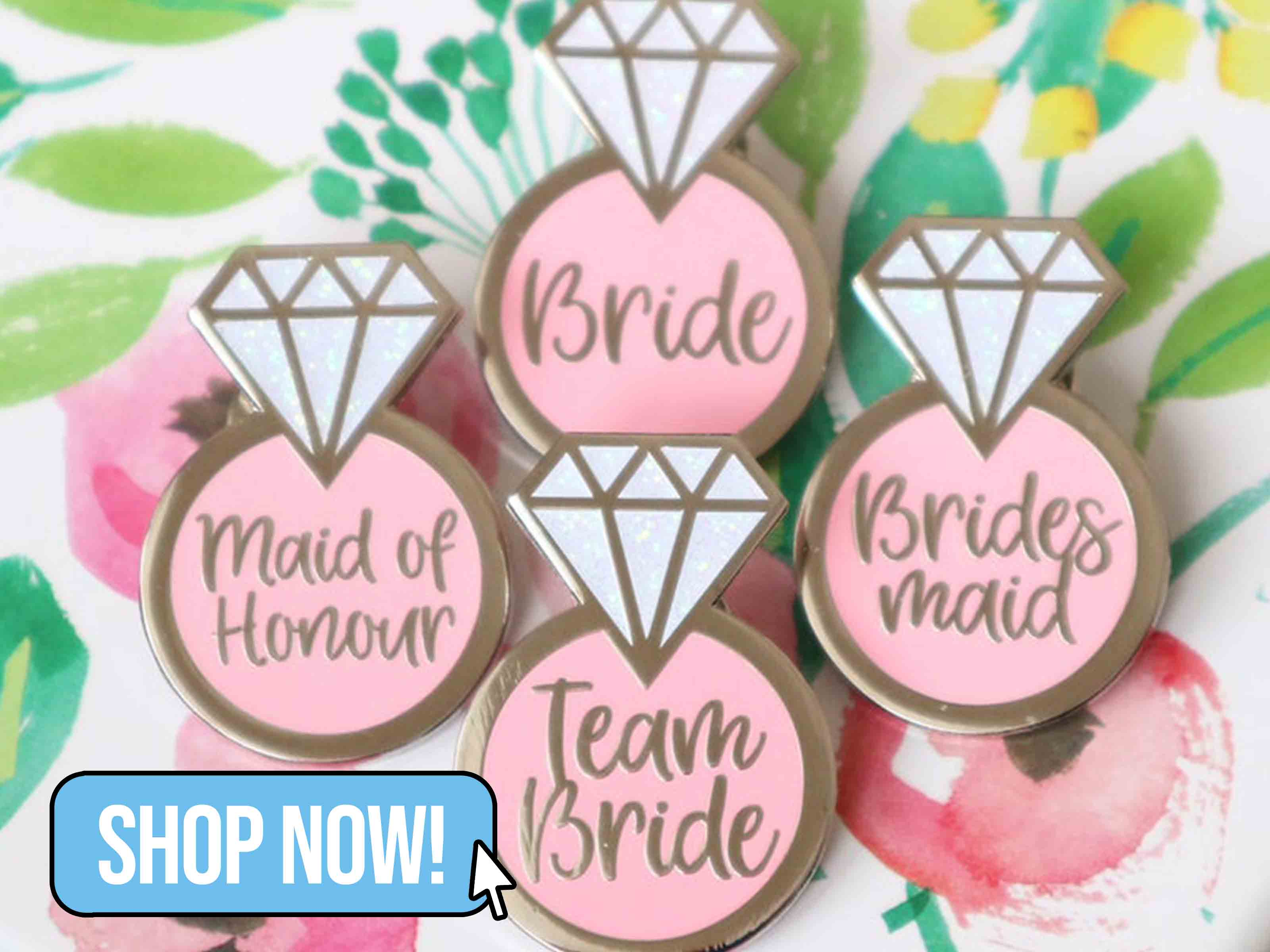 Team Bride Badges - TigerFeetCreations