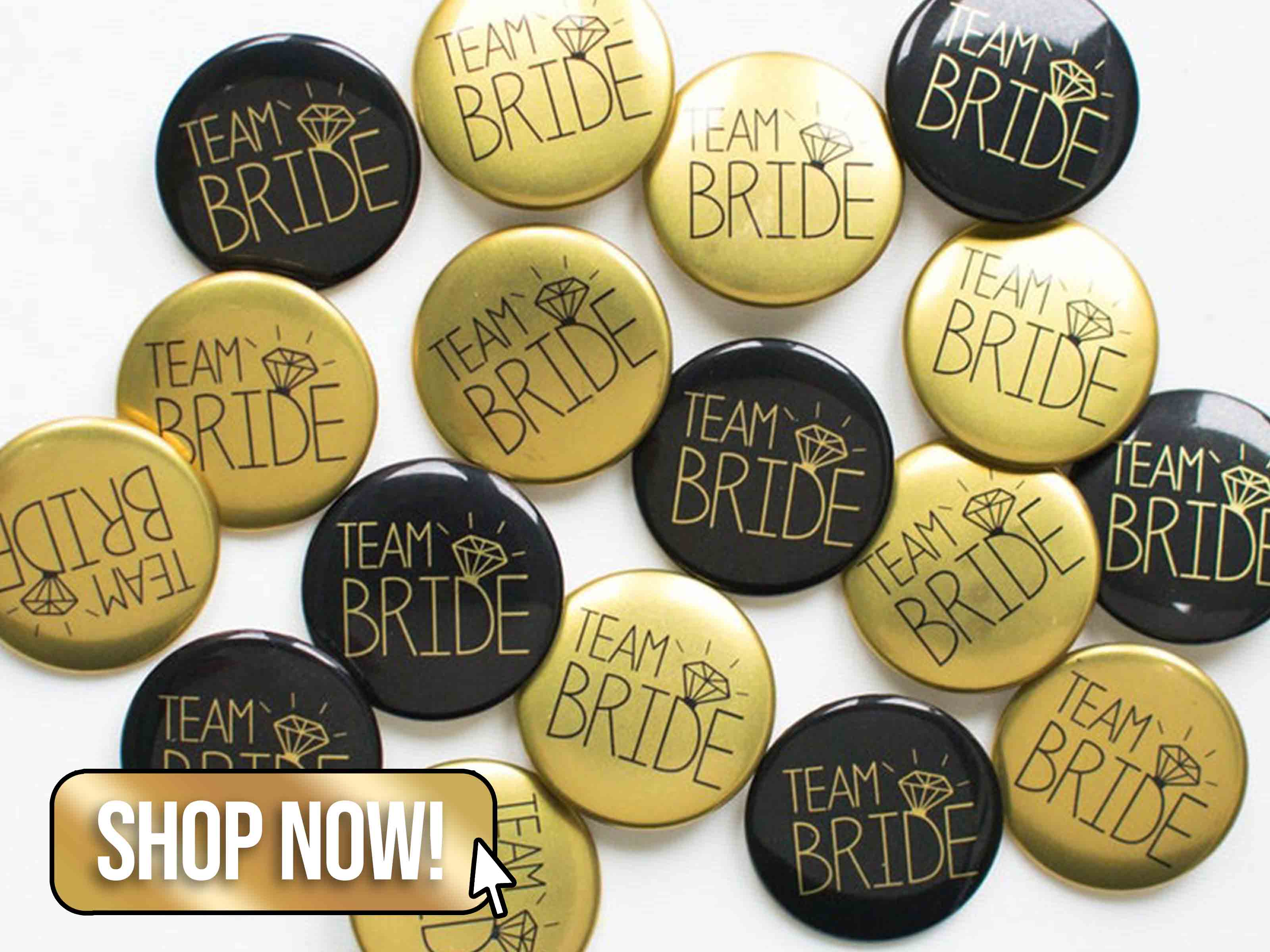 Hen Party Badges in Black and Gold - MakeLoops