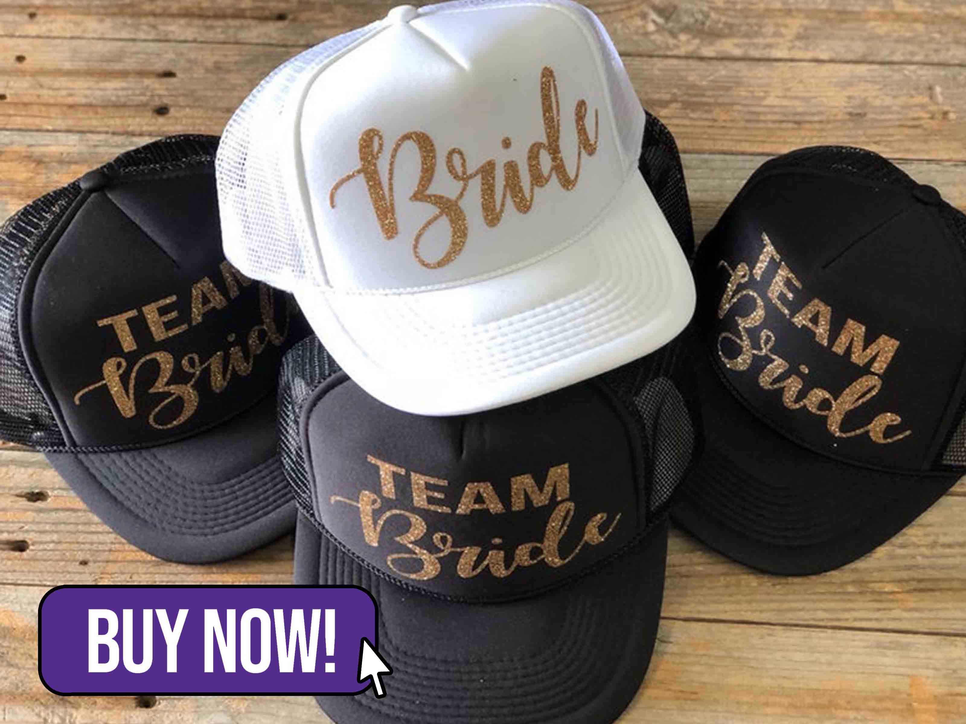 Glitter Team Bride Trucker Hat - TNTDesignsTX