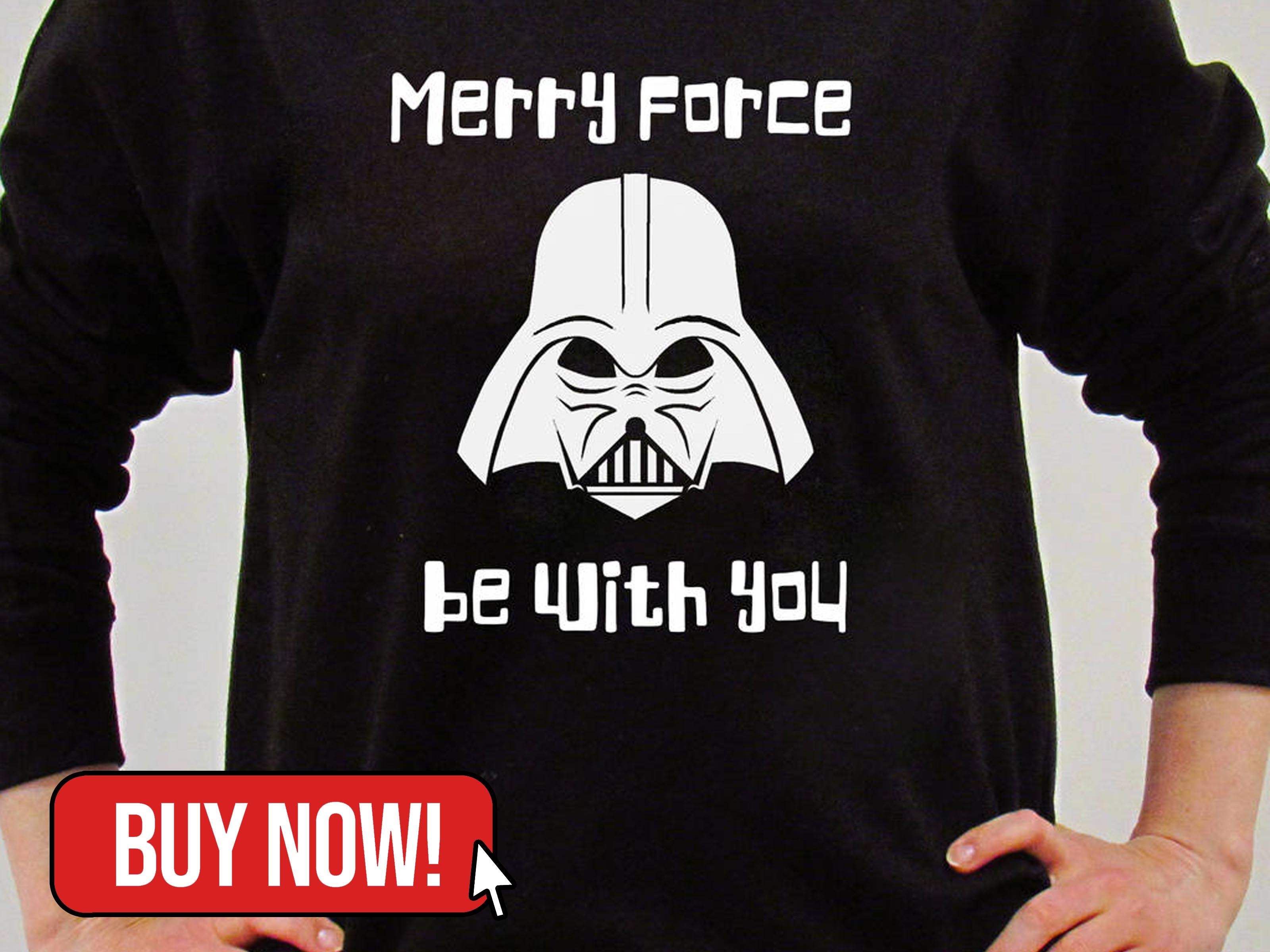 Merry Force Be With You Christmas Jumper