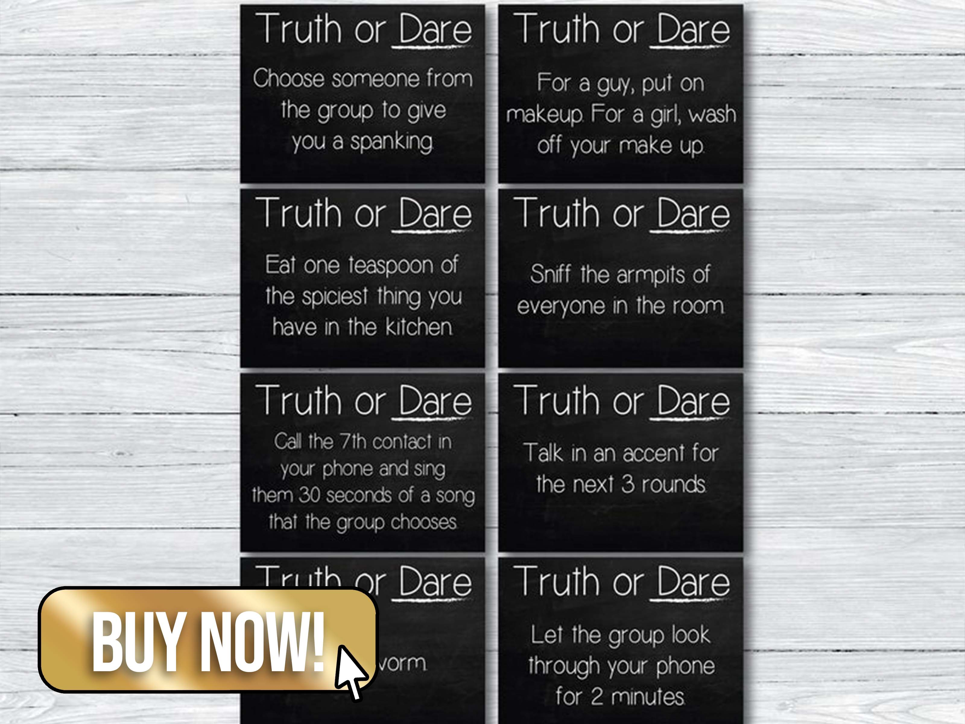 48 Printable Truth or Dare Cards