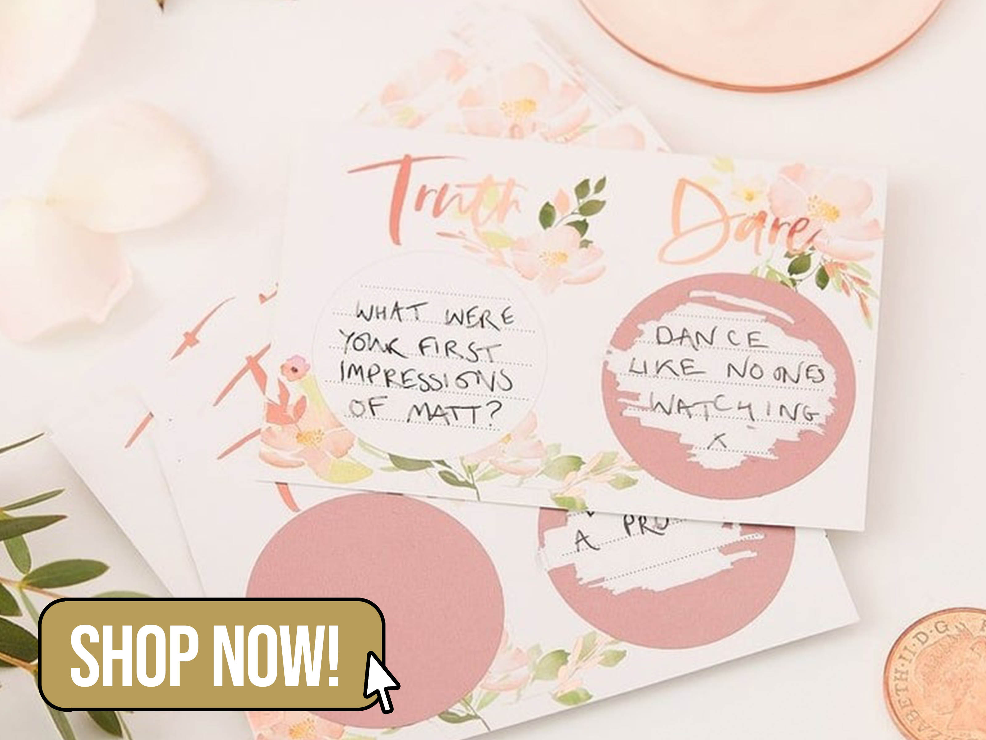 Truth or Dare Hen Party Cards