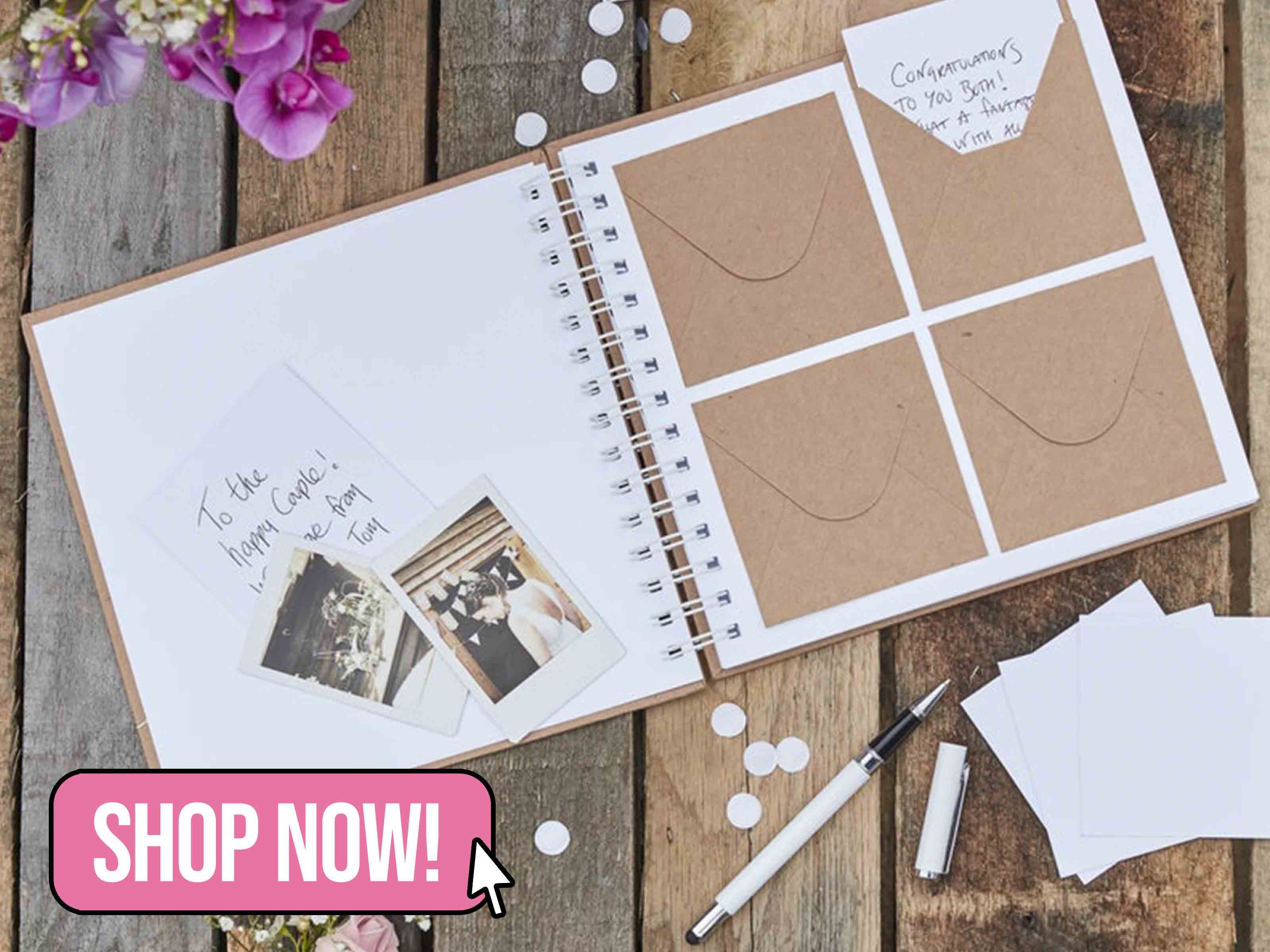Envelope Guest Book - supersweetparty