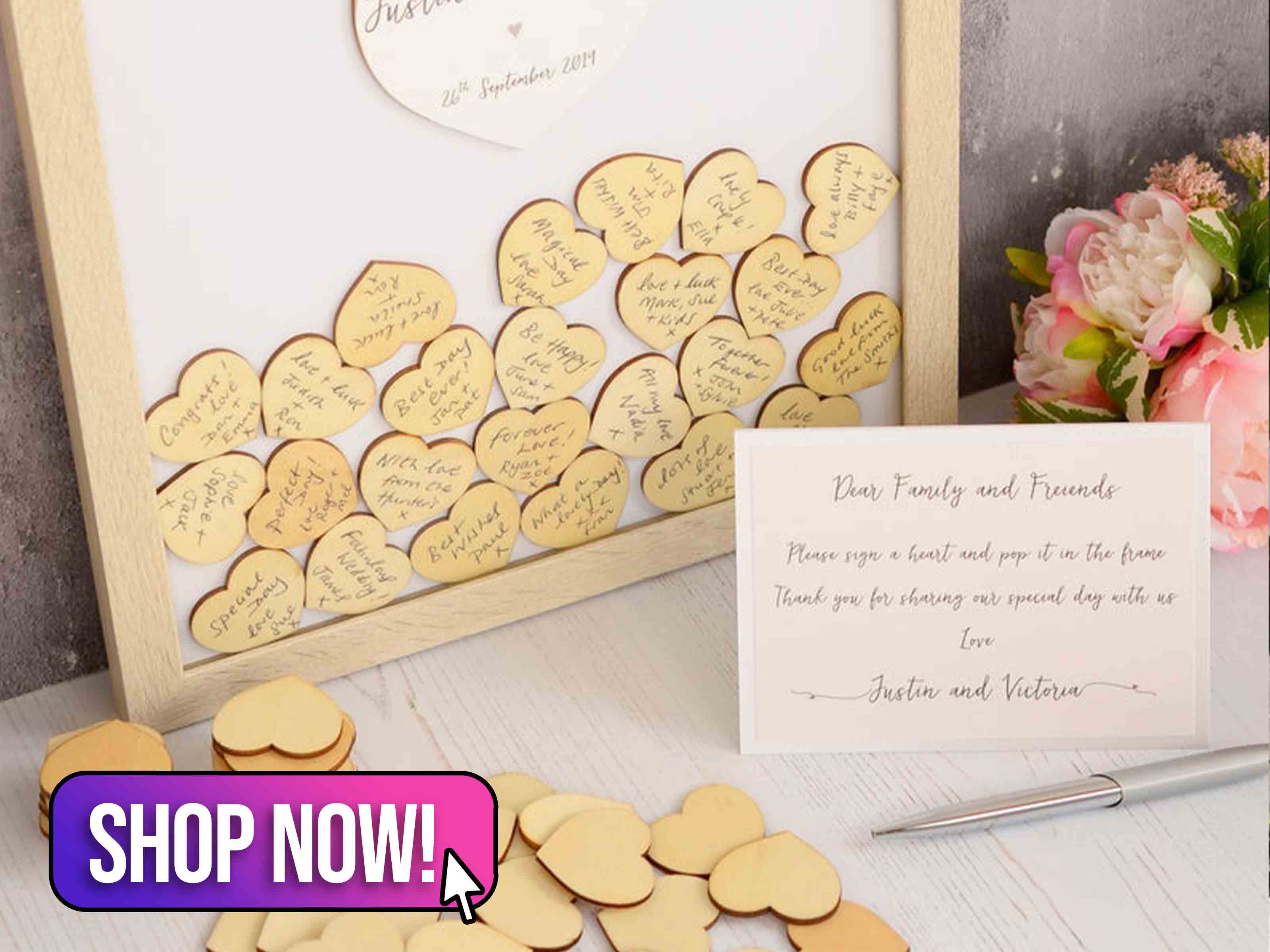 Personalised Wedding Guest Book Frame - storiUK