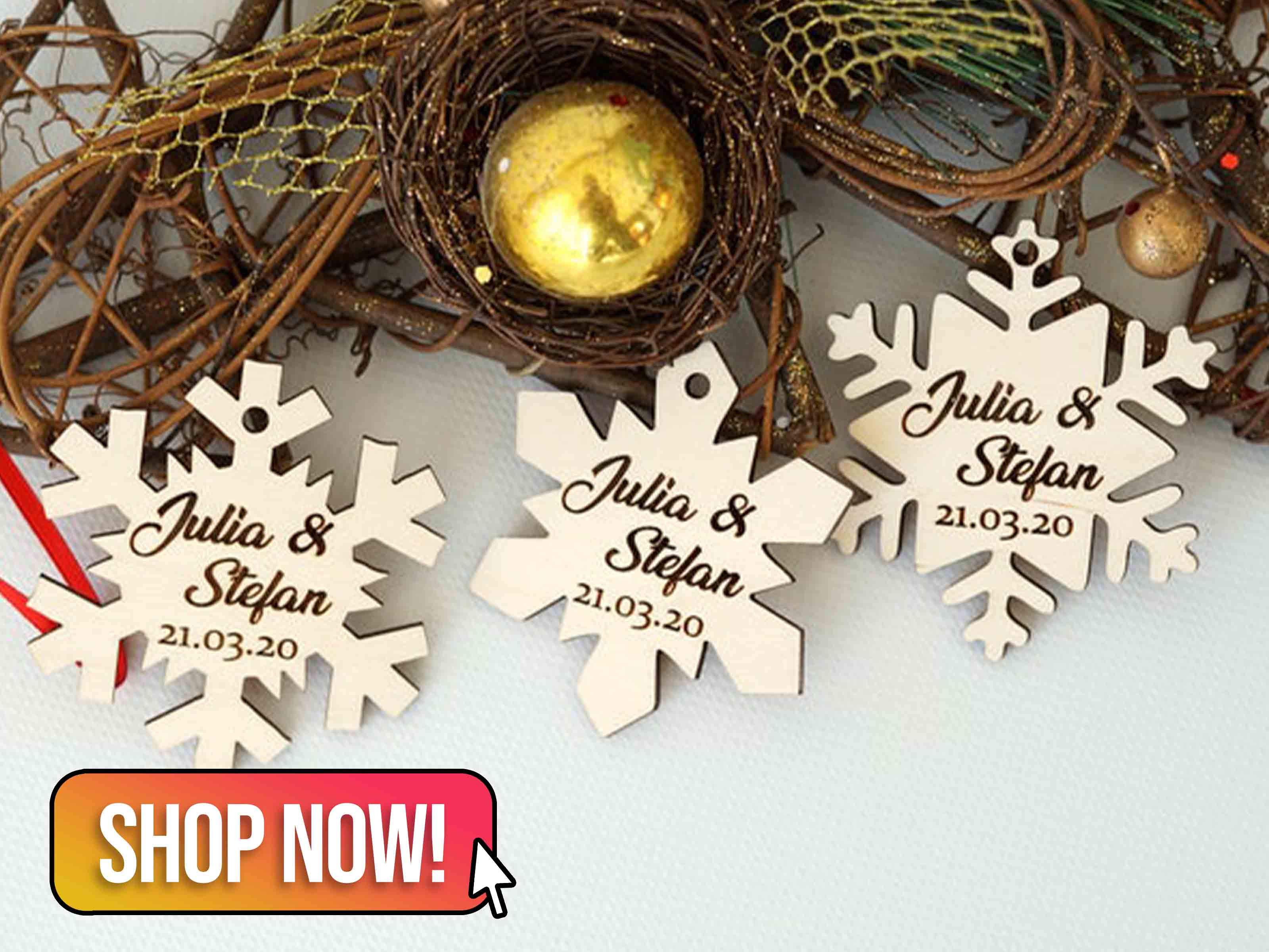 Snowflake Wedding Favours - MinakStudio