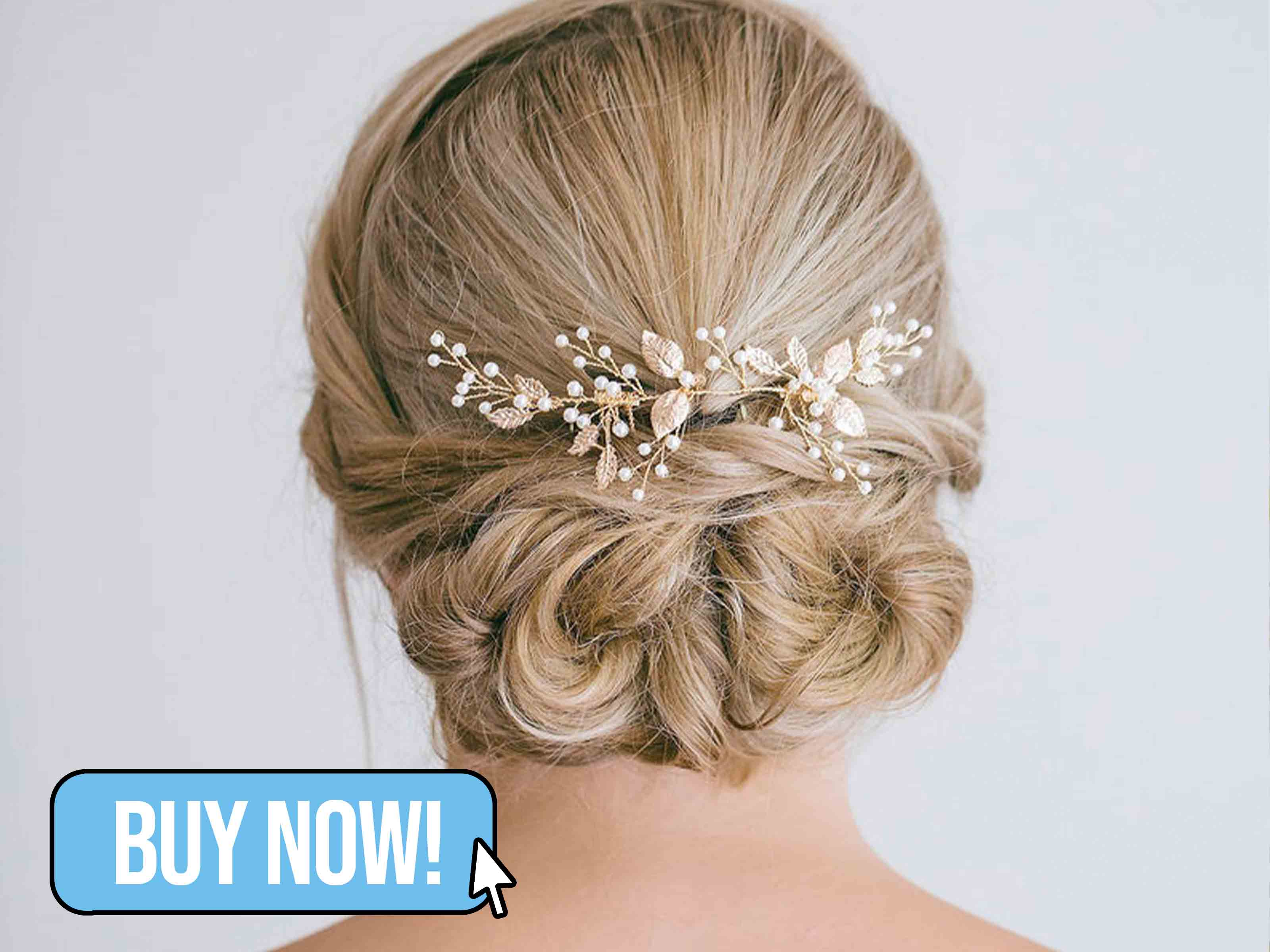 Bridal Gold Leaf Hair Vine - RosyRoseStudio