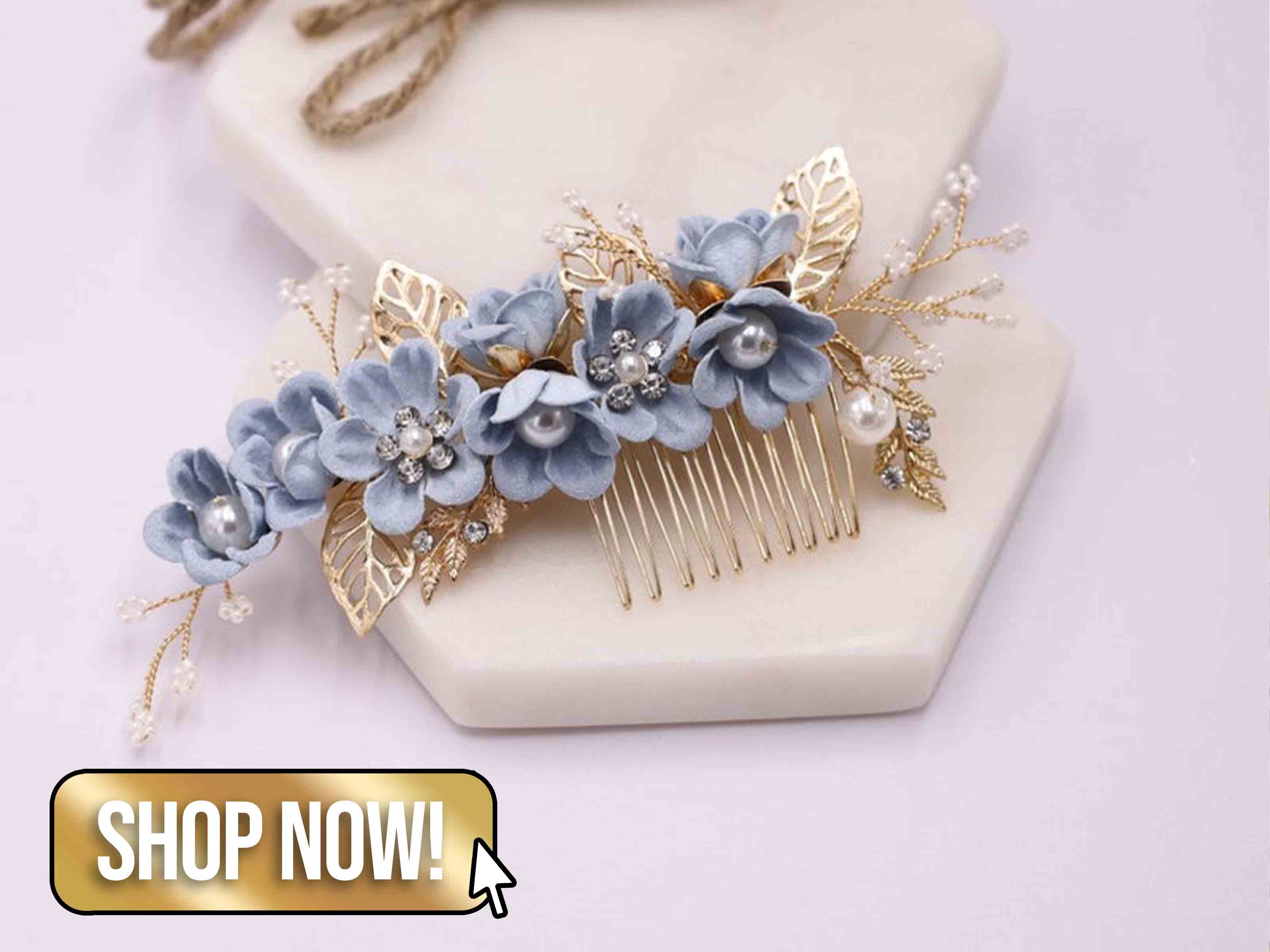Bridal Hair Piece - SymilaAccessories