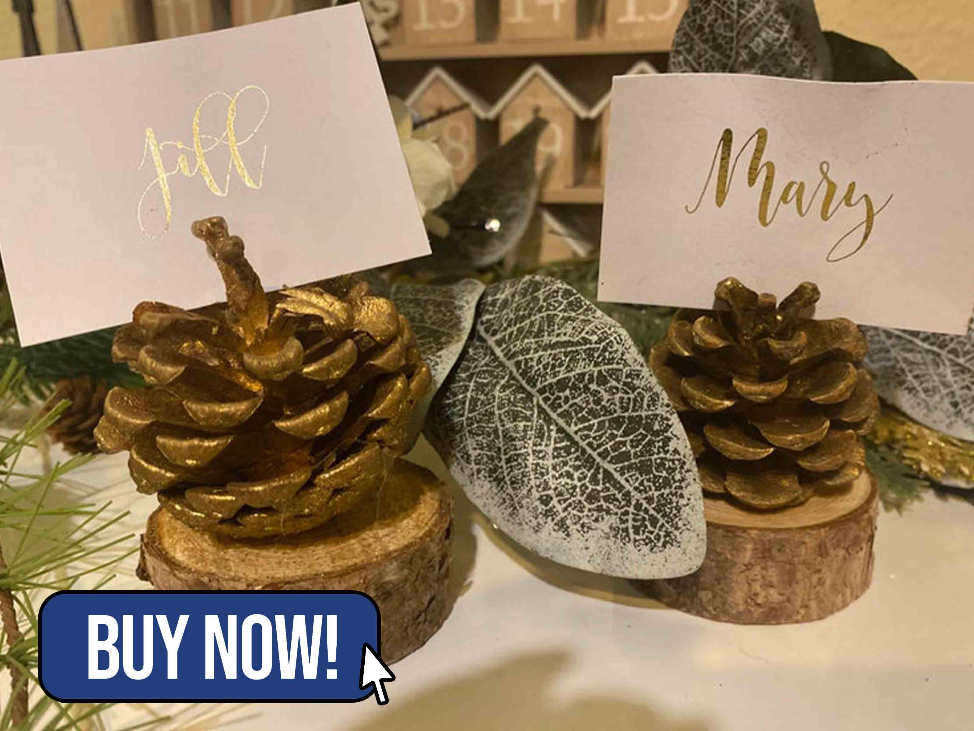 Pine Cone Place Card Holders - WoolAvalanche