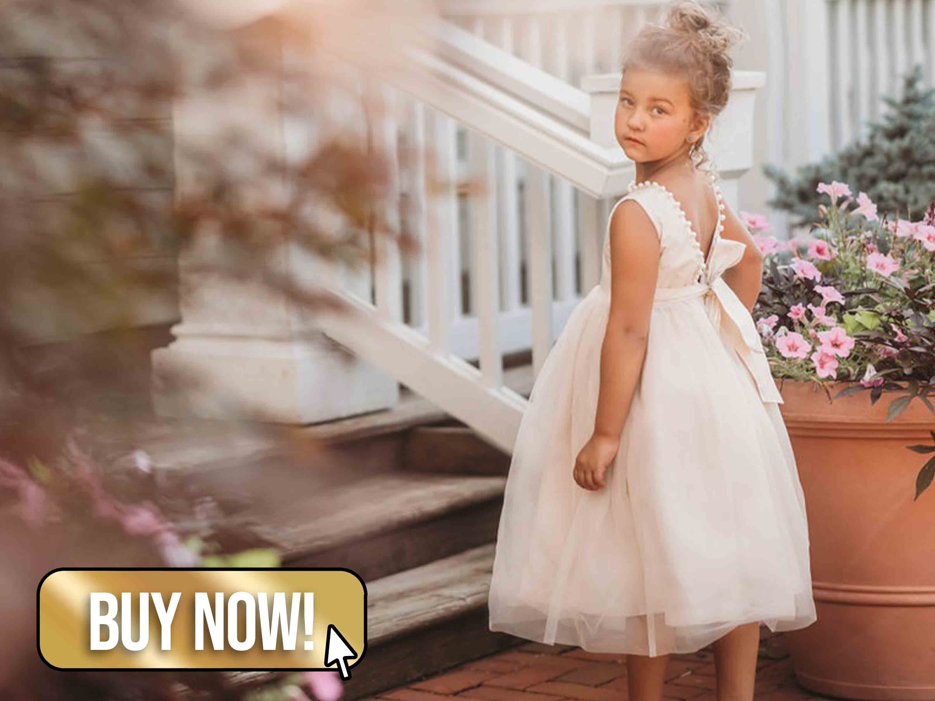 Ivory Flower Girl Dress - OLODesigns