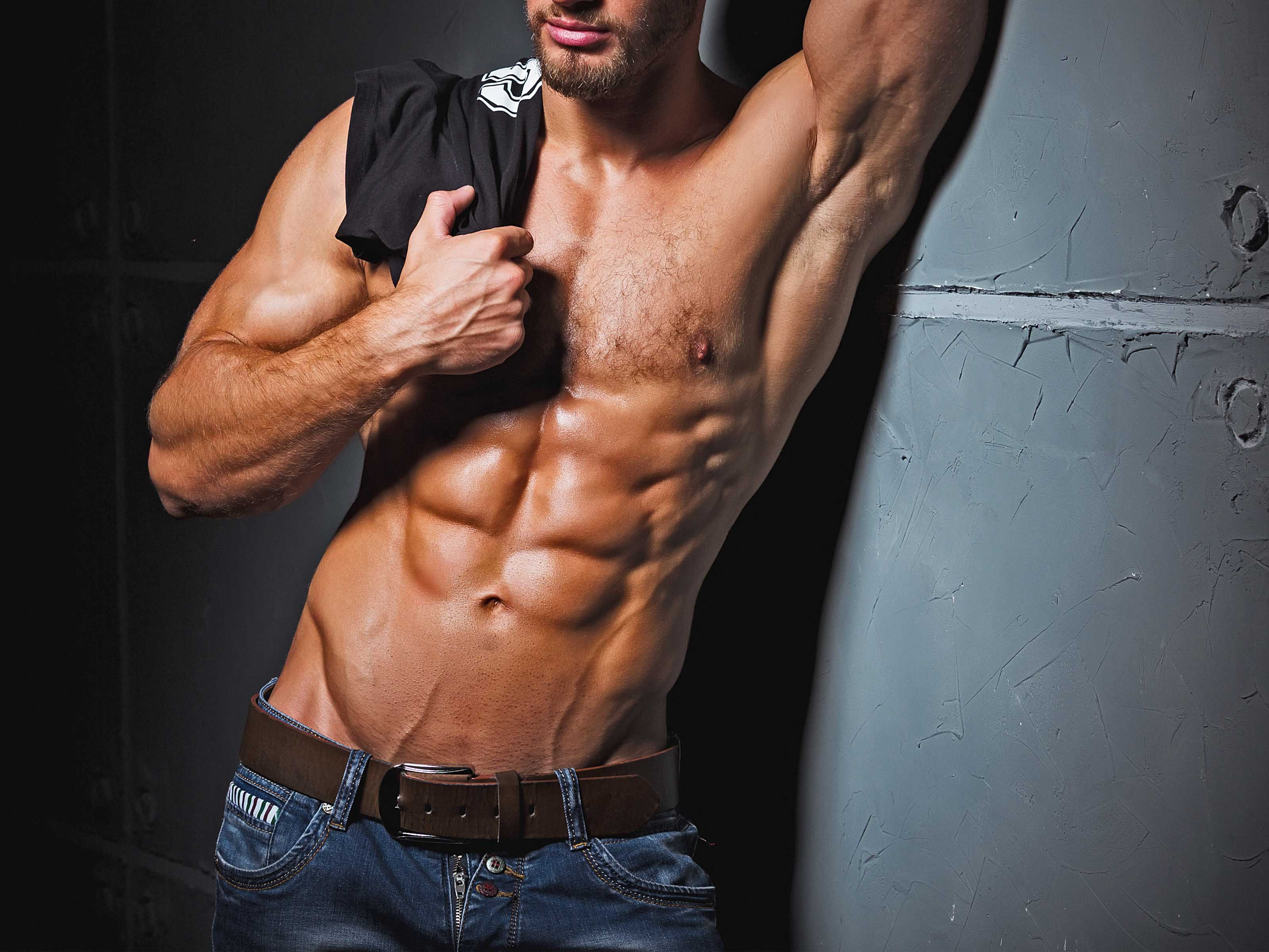 Hunky man stripper