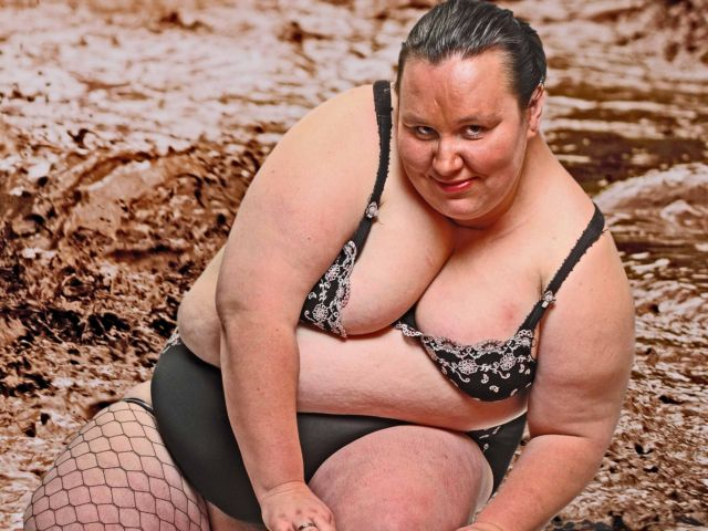 Mud Wrestling with Roly Poly Stripper