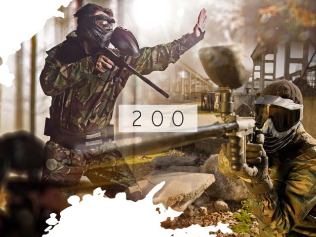 Paintball with 200 balls