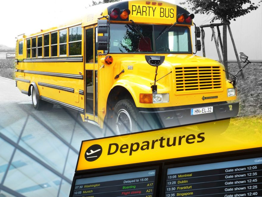 American School Party Bus Airport Transfer